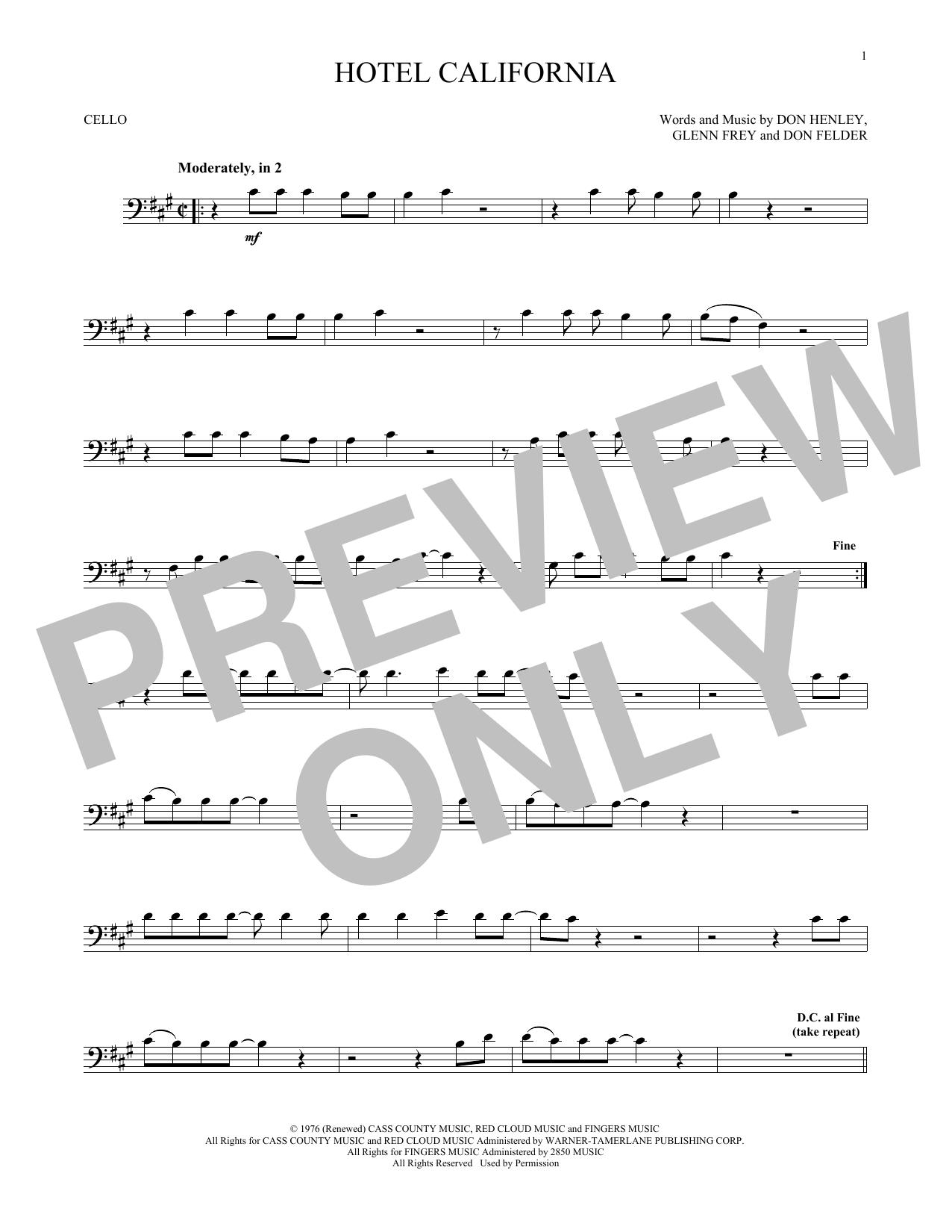 Hotel California (Cello Solo)