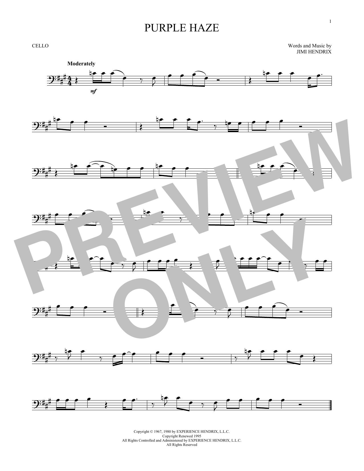 Purple Haze (Cello Solo)
