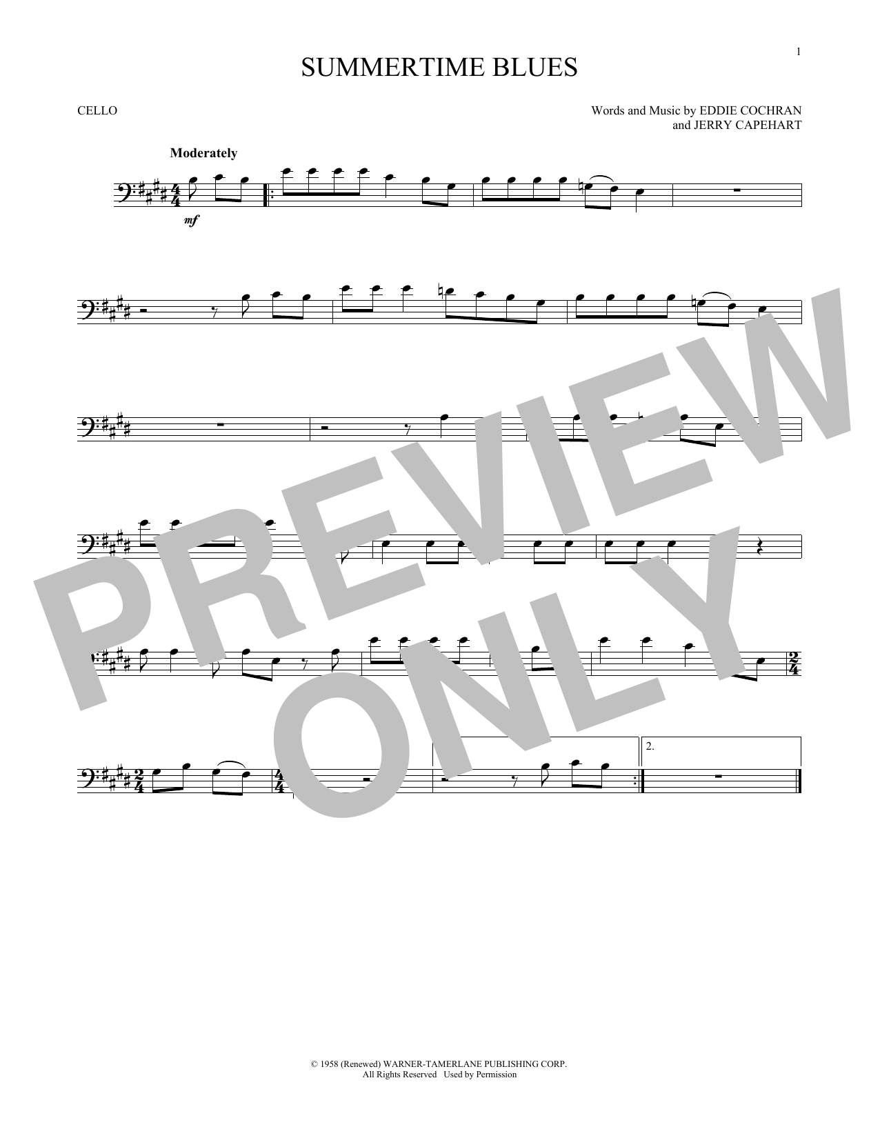 Summertime Blues (Cello Solo)