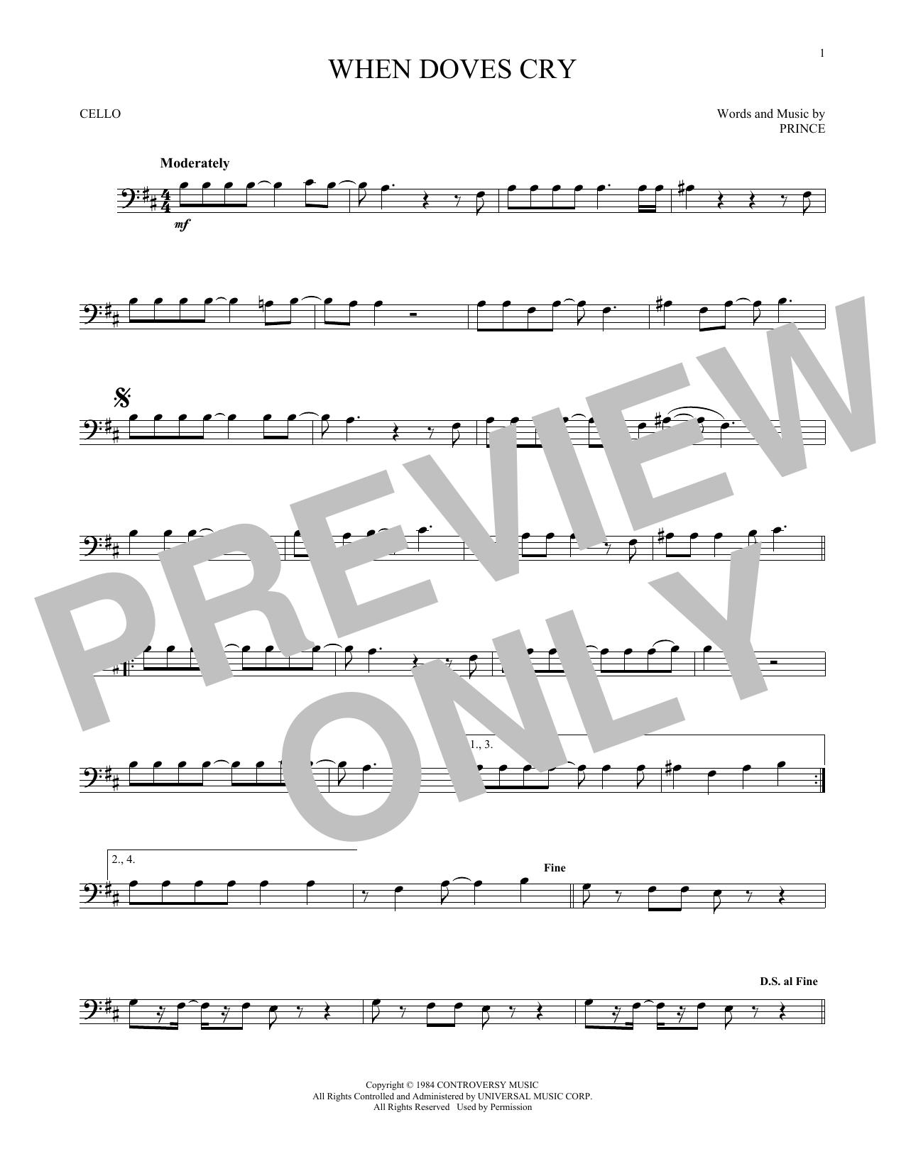 When Doves Cry (Cello Solo)