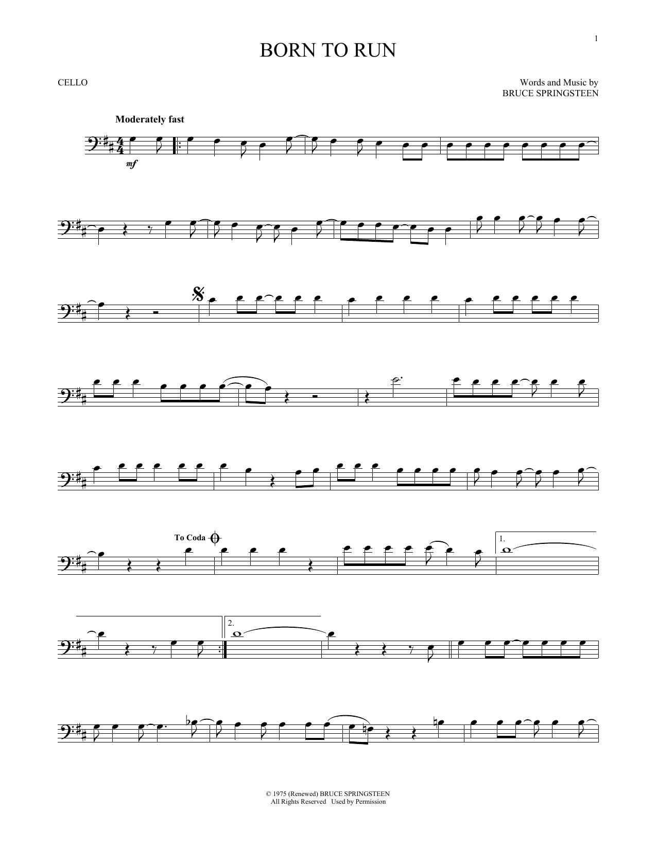 Born To Run (Cello Solo)