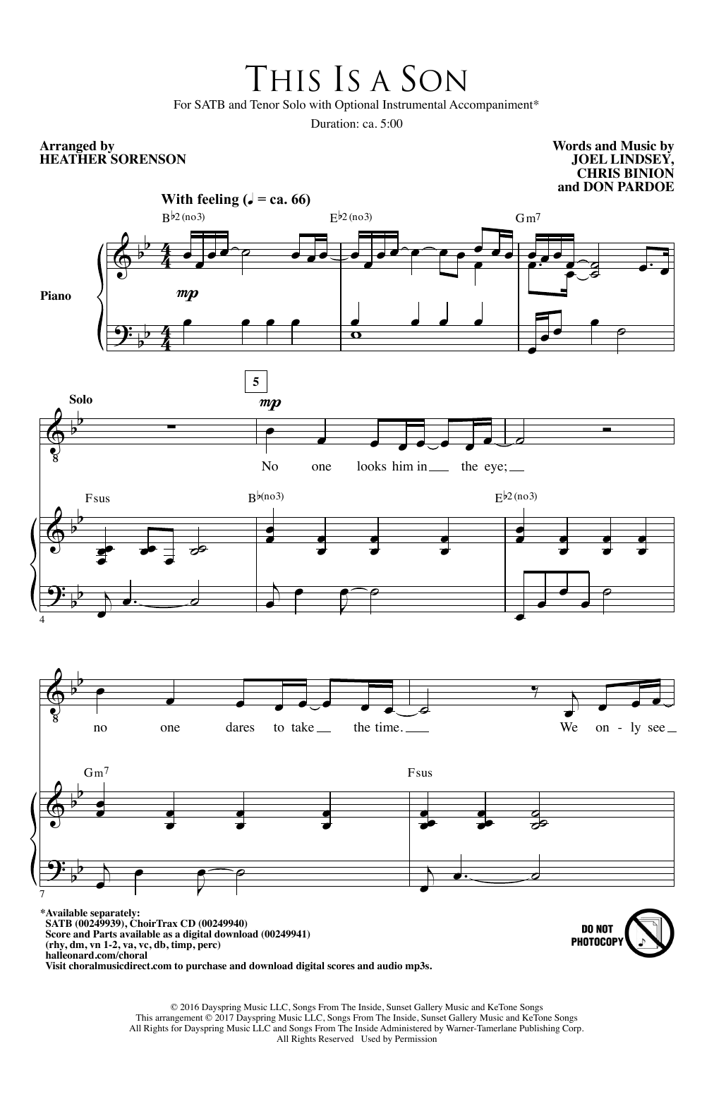 This Is A Son Sheet Music