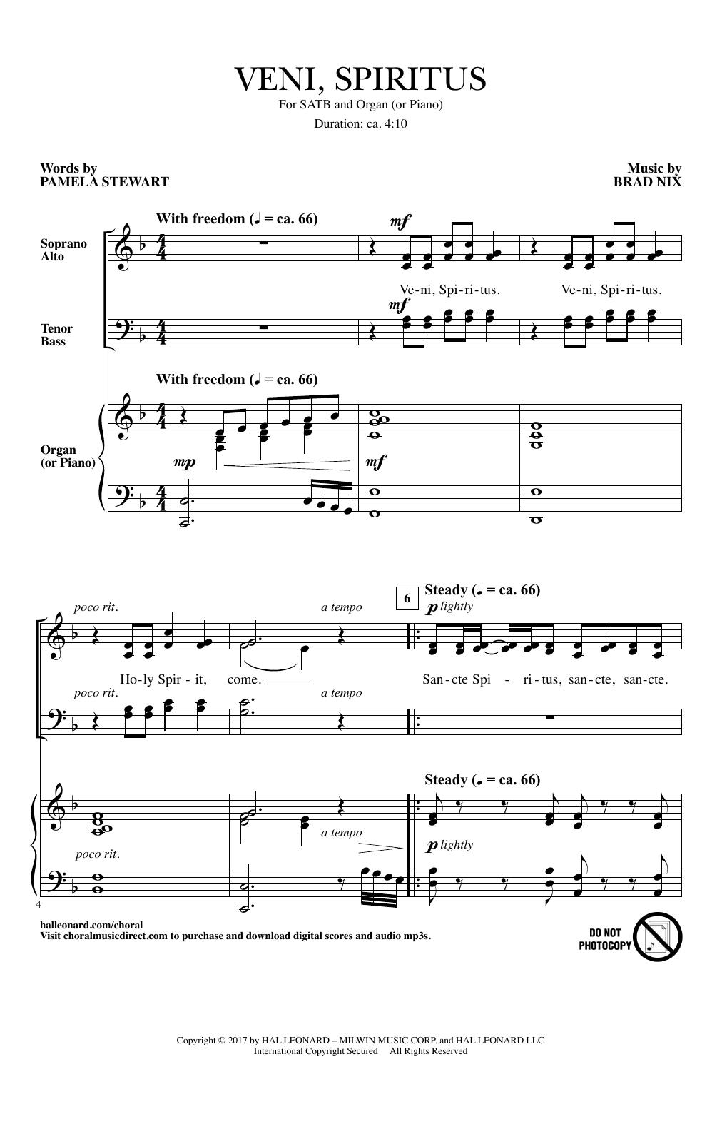 Veni, Spiritus Sheet Music