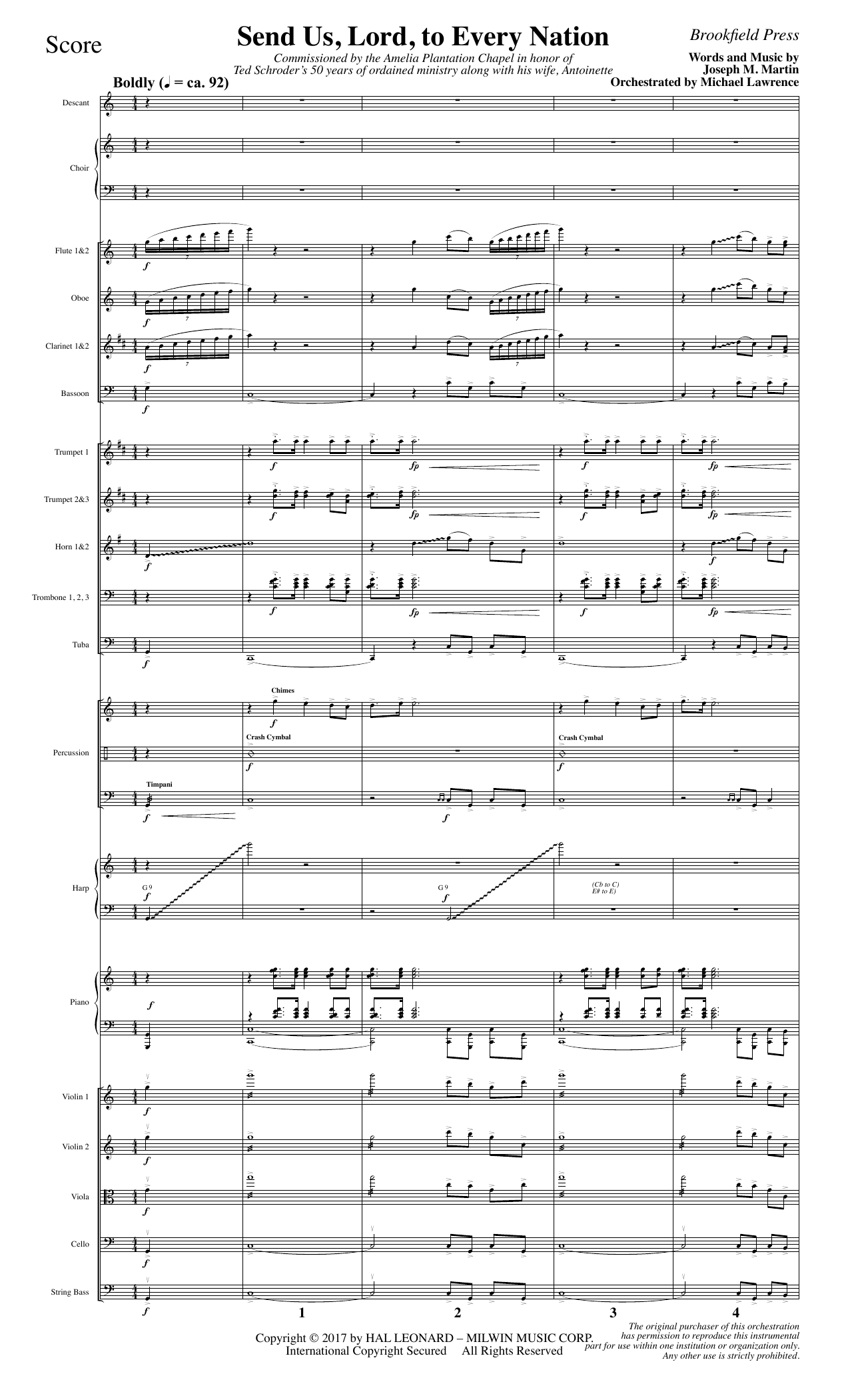 Send Us, Lord, to Every Nation - Full Score (Choir Instrumental Pak)