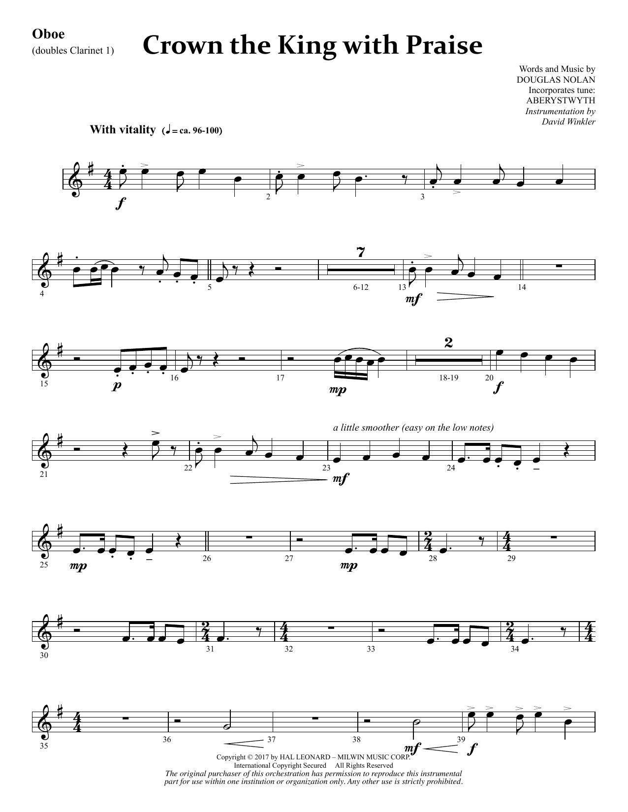 Crown the King with Praise - Oboe (dbl. Clarinet 1) (Choir Instrumental Pak)