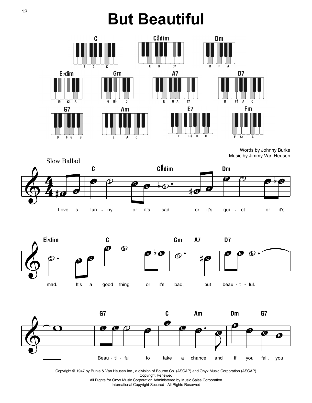 But Beautiful Sheet Music