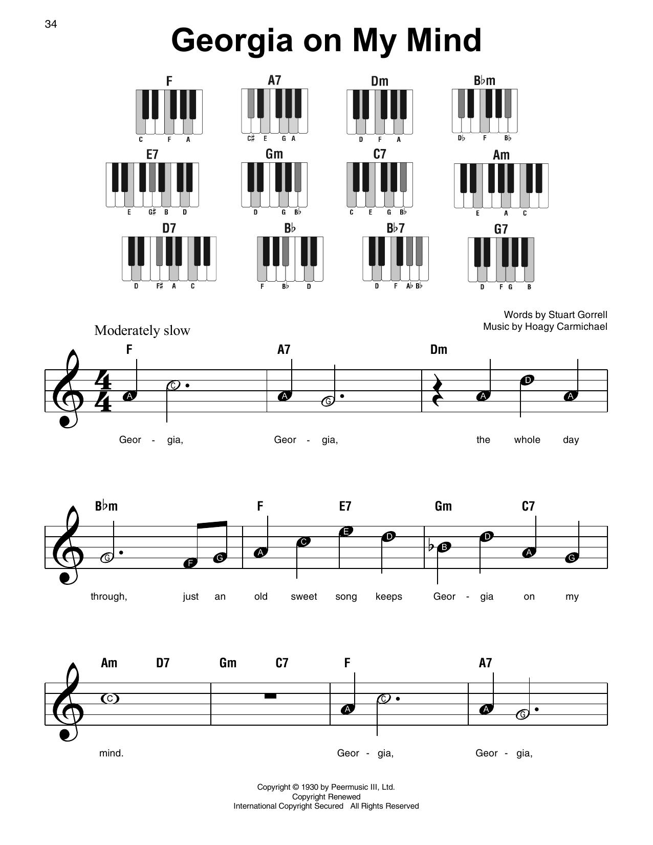 Georgia On My Mind (Super Easy Piano)