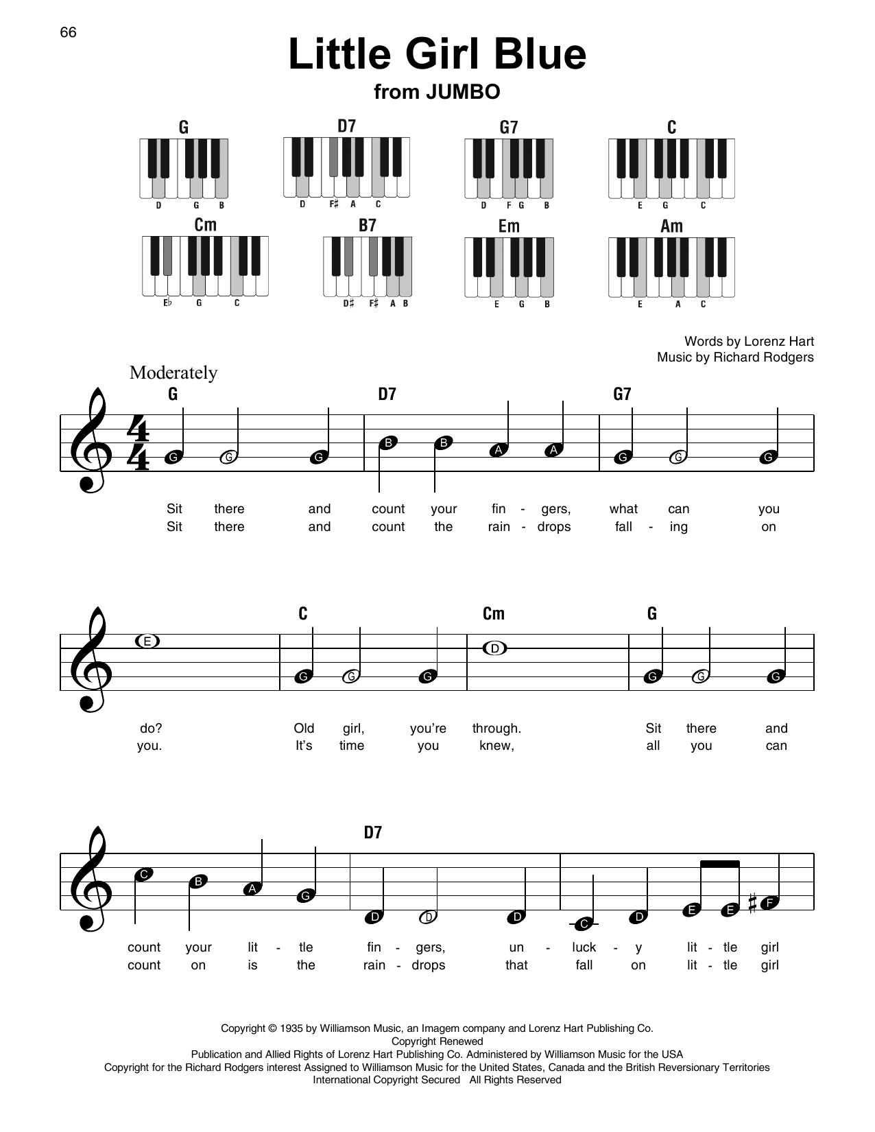 Little Girl Blue (Super Easy Piano)
