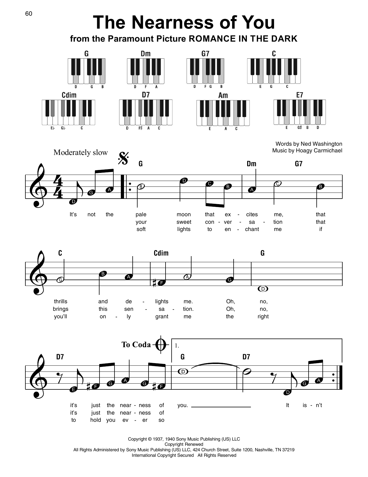 The Nearness Of You (Super Easy Piano)