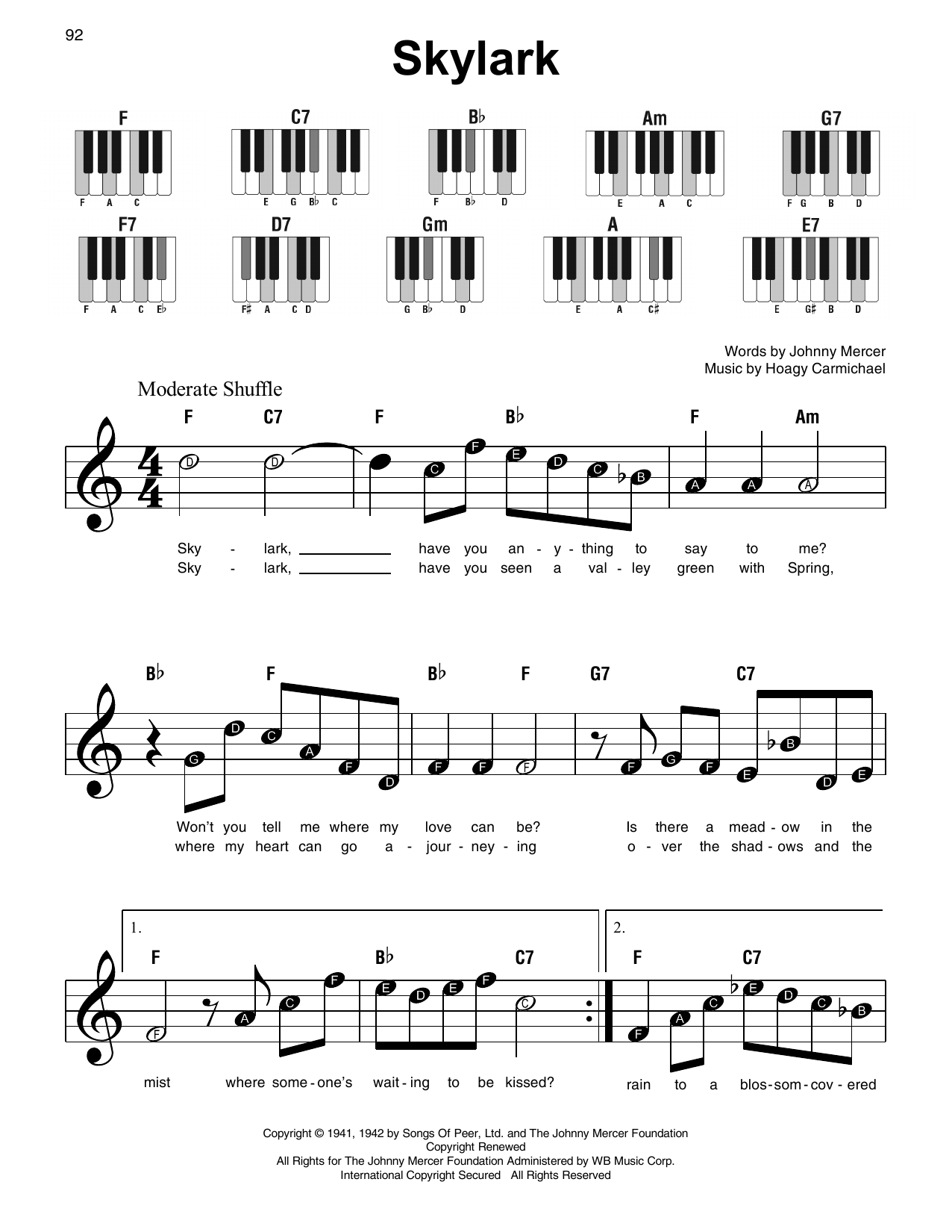 Skylark Sheet Music