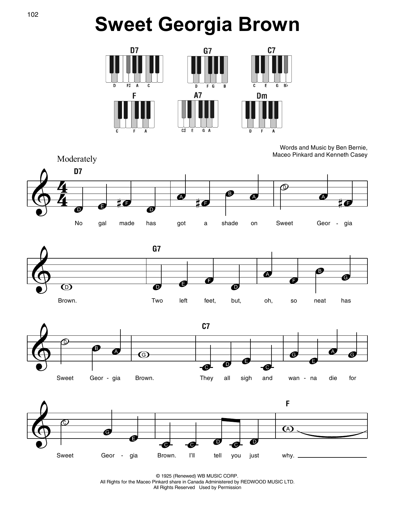 Sweet Georgia Brown Sheet Music