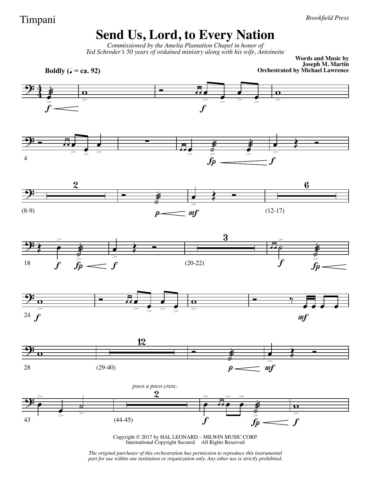 Send Us, Lord, to Every Nation - Timpani (Choir Instrumental Pak)