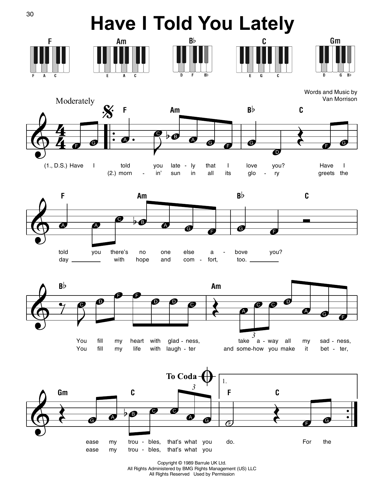Have I Told You Lately Sheet Music