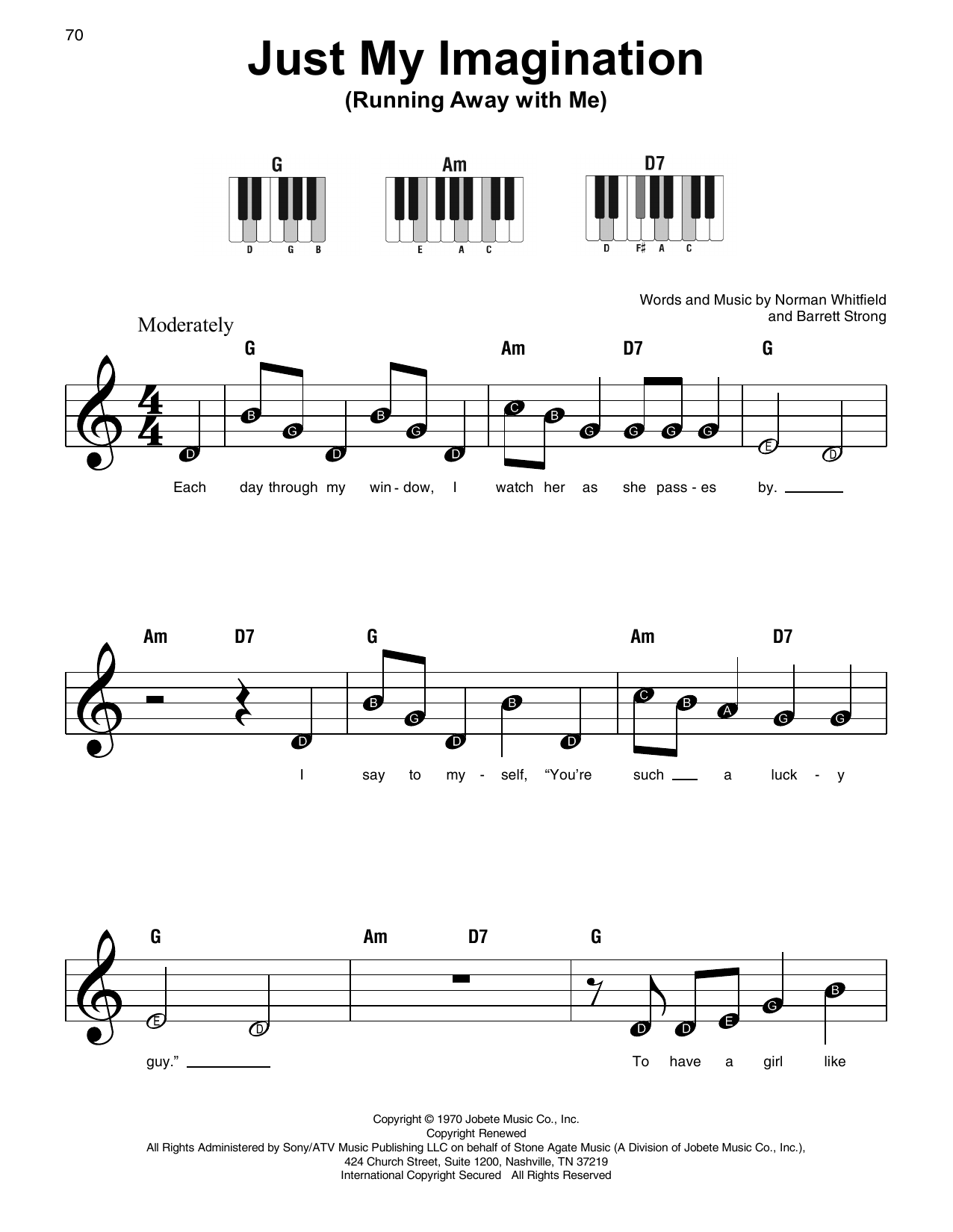 Just My Imagination (Running Away With Me) (Super Easy Piano)
