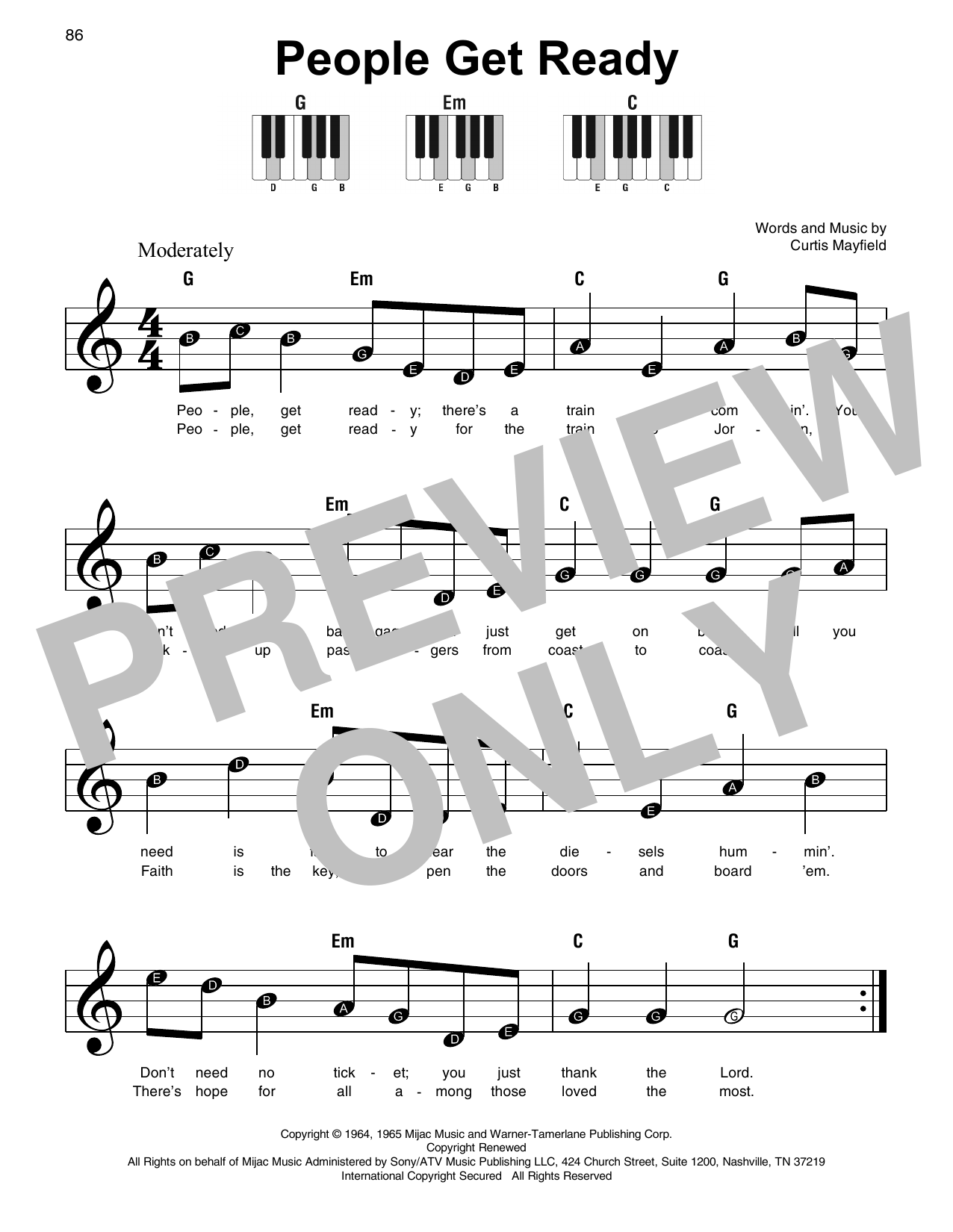 People Get Ready Sheet Music