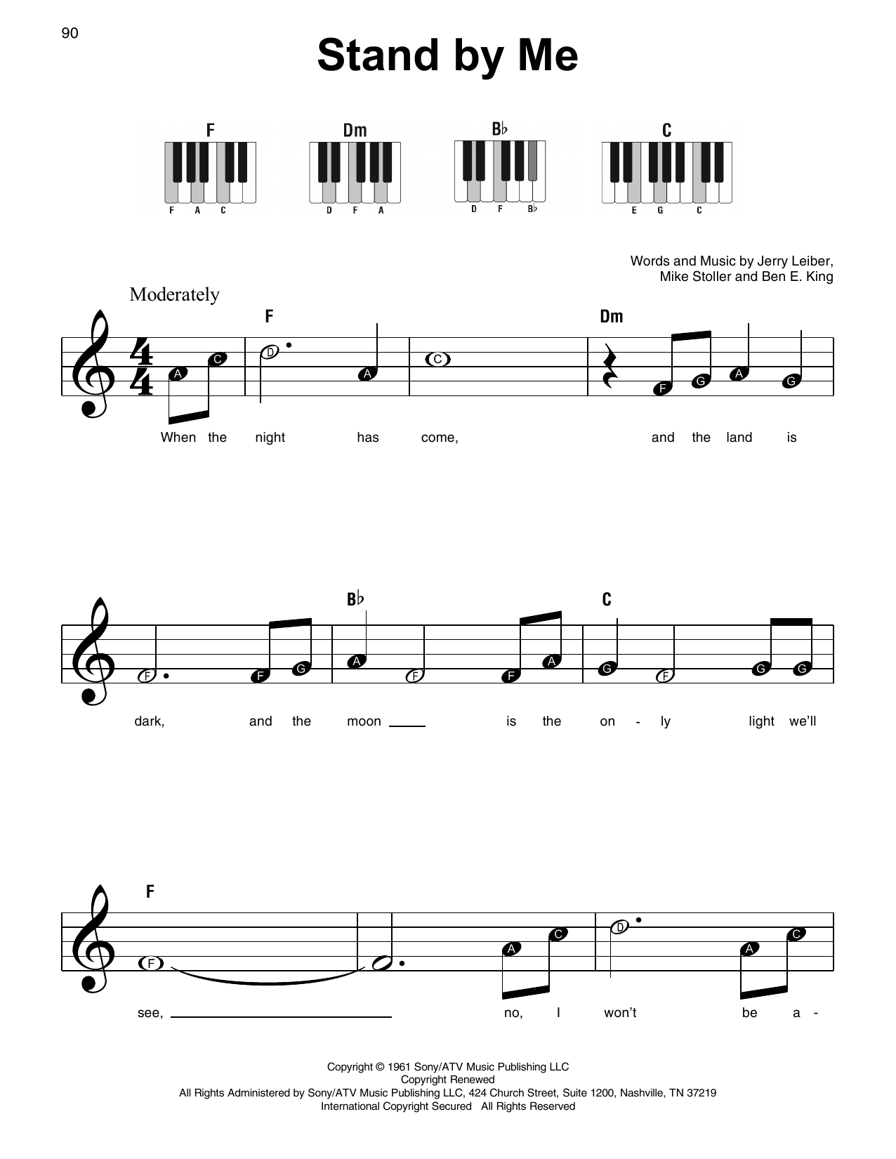 Stand By Me (Super Easy Piano)