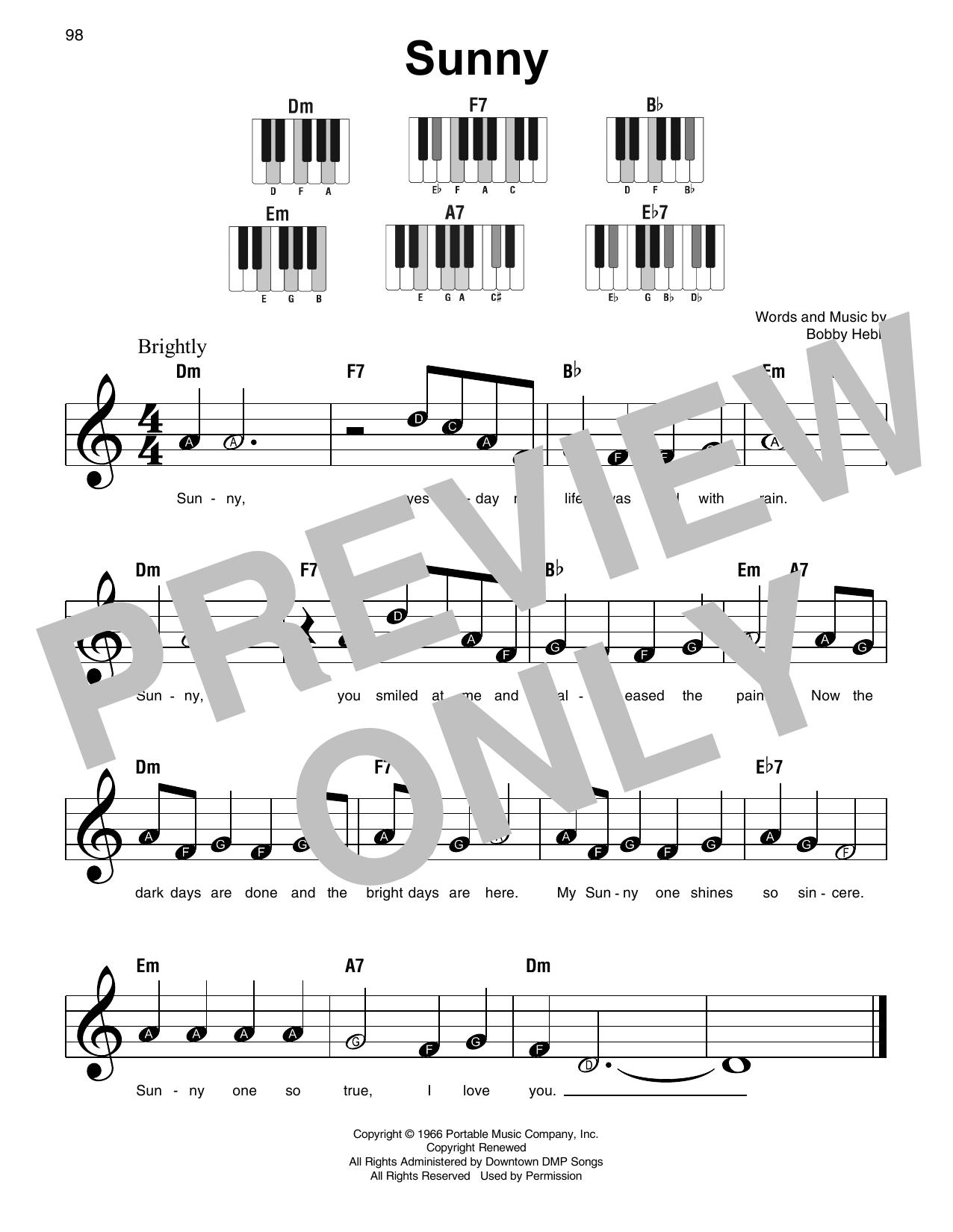 Sunny Sheet Music