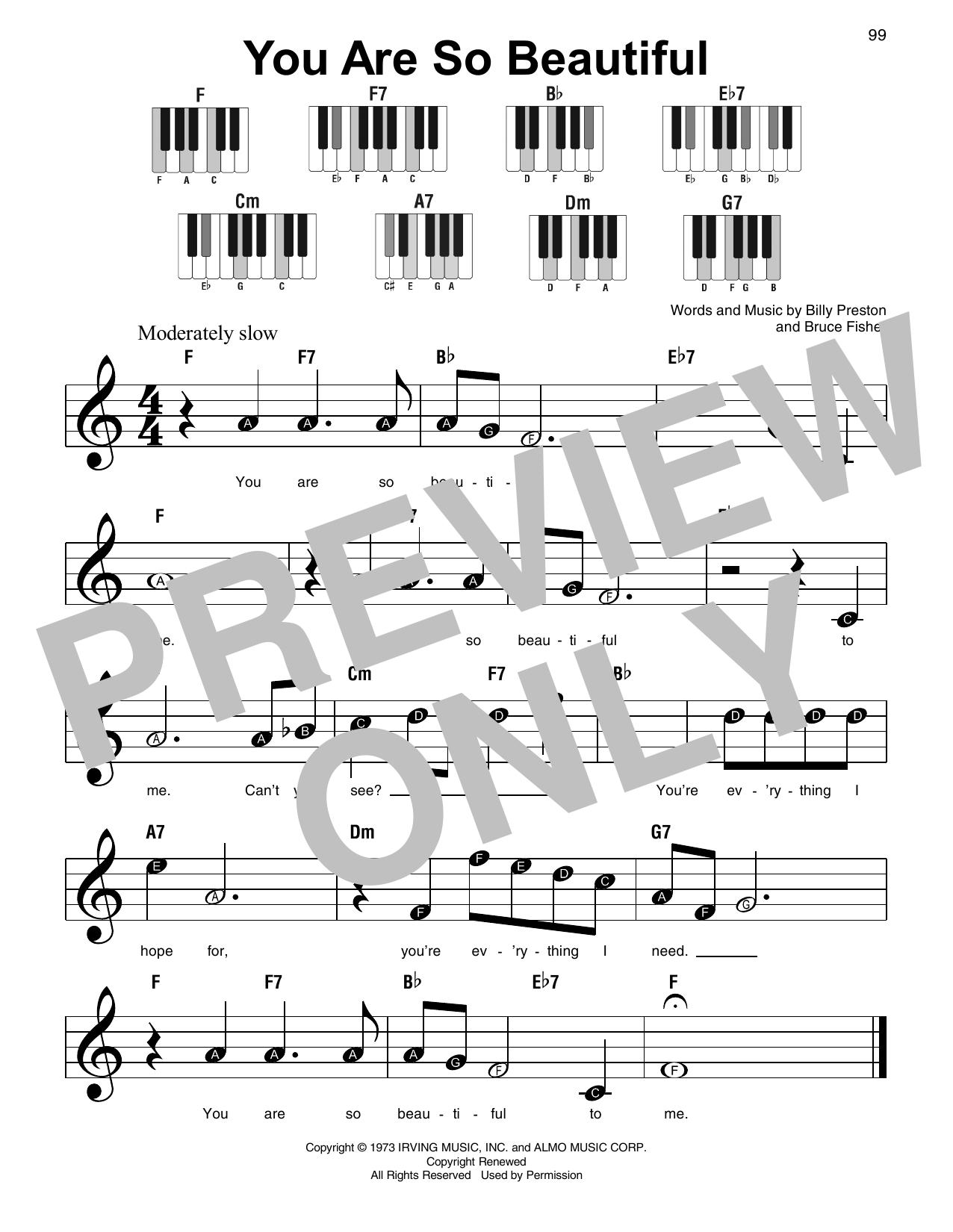You Are So Beautiful Sheet Music