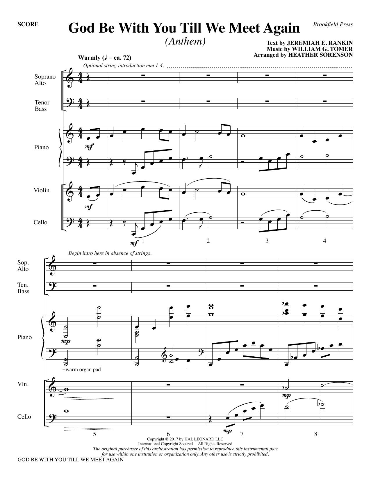 God Be with You Till We Meet Again - Full Score (Choir Instrumental Pak)