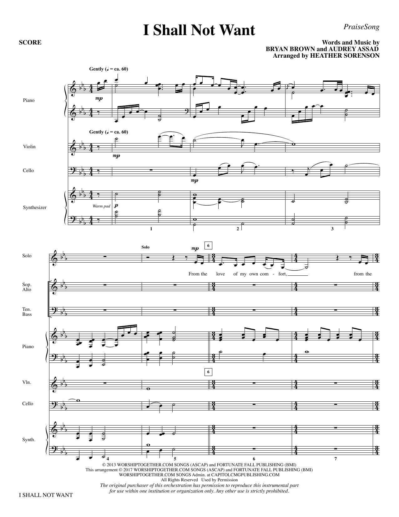 I Shall Not Want - Full Score (Choir Instrumental Pak)