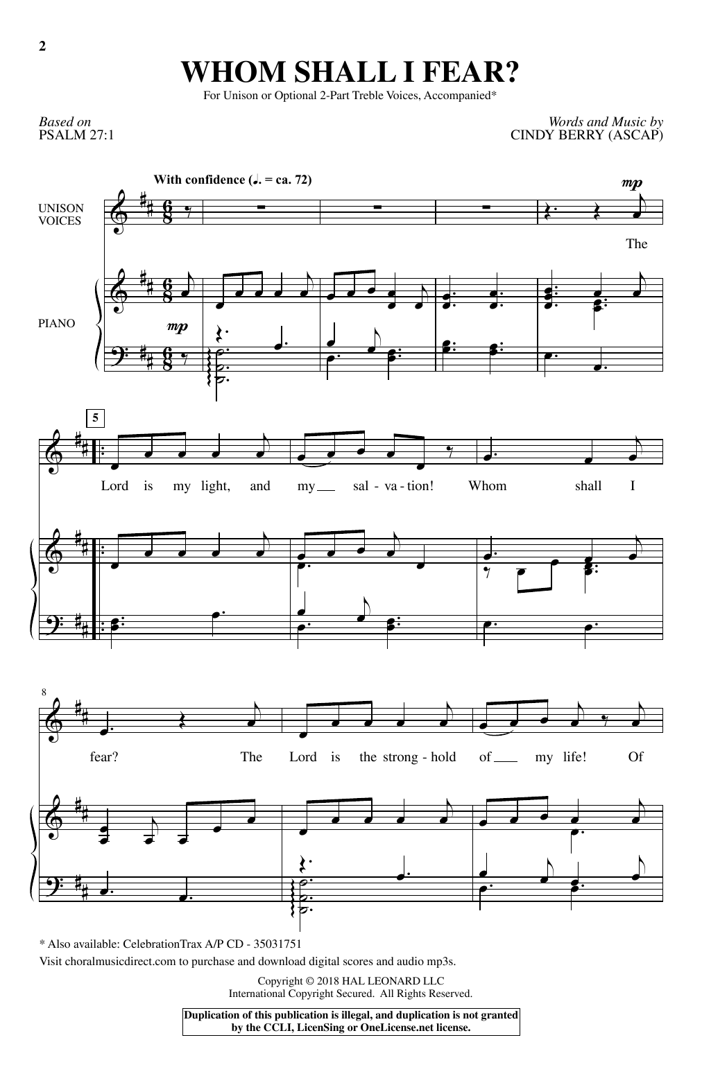 Whom Shall I Fear? Sheet Music