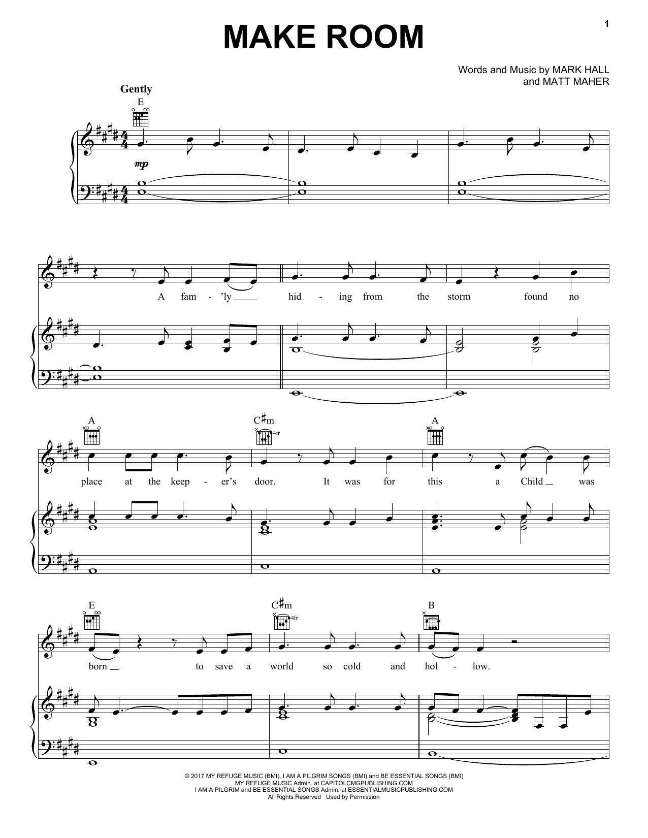 Make room sheet music direct sheet preview hexwebz Images