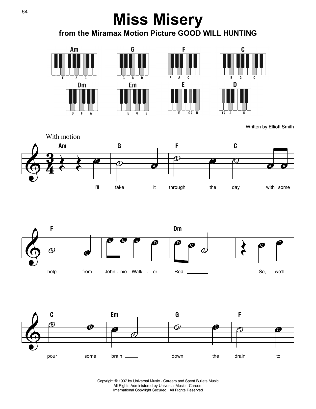 Miss Misery Sheet Music