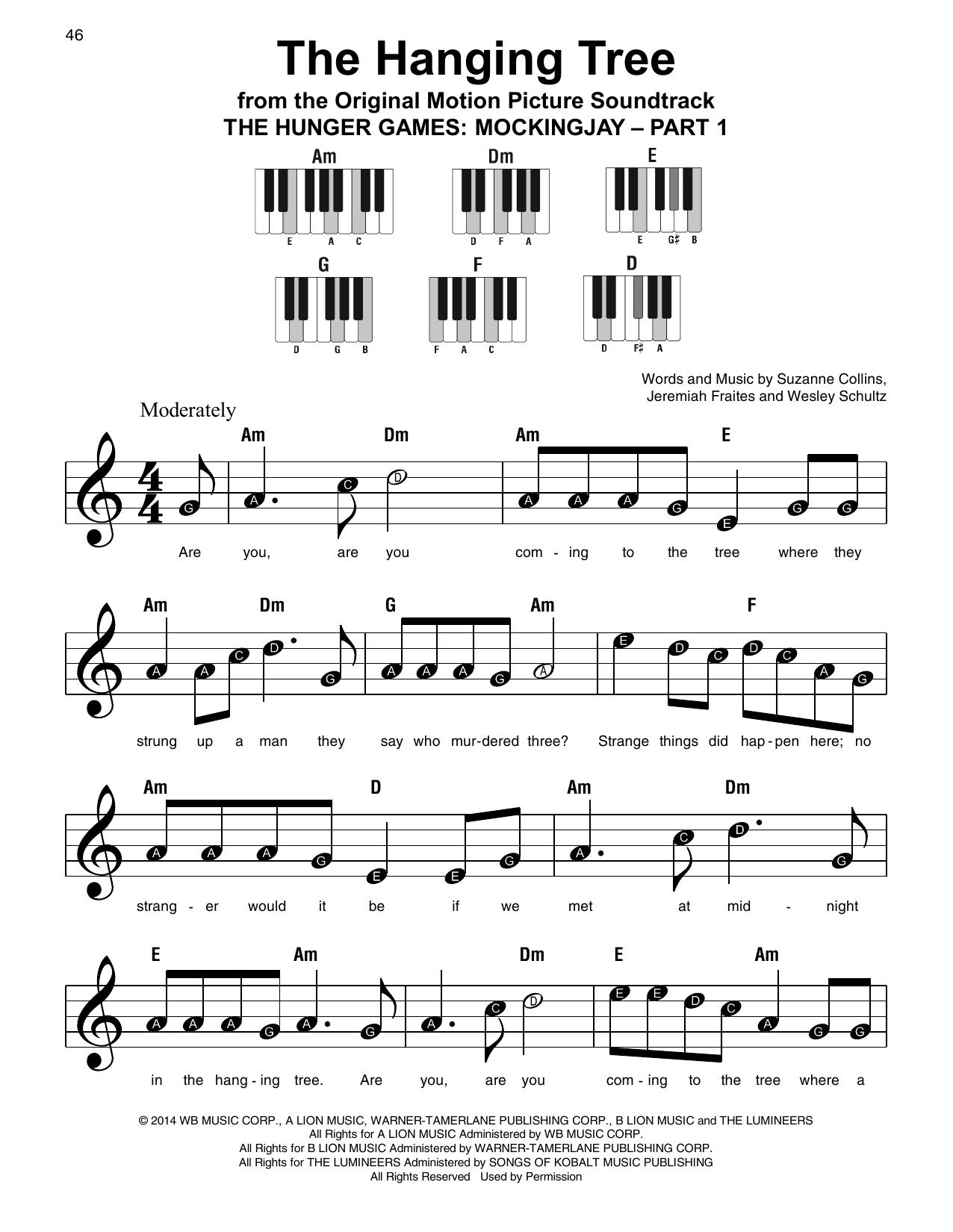 The Hanging Tree Sheet Music