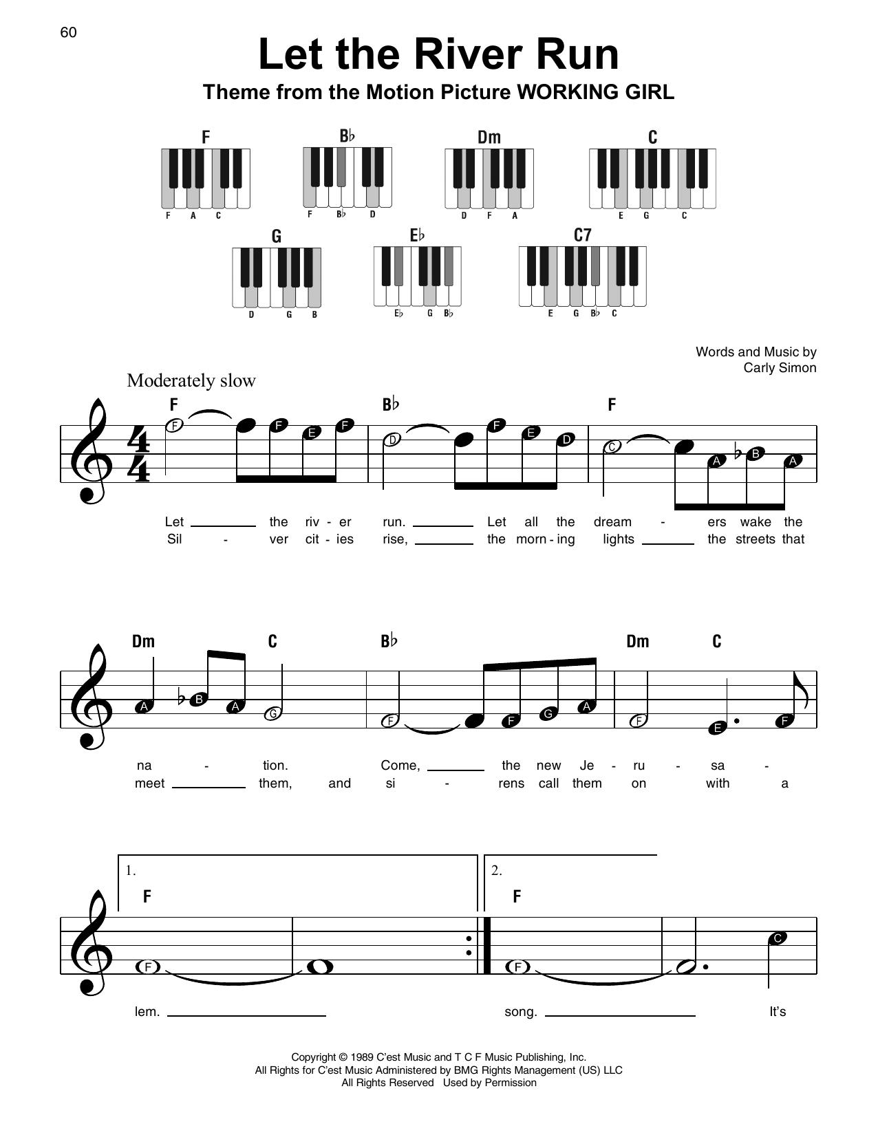 Let The River Run Sheet Music
