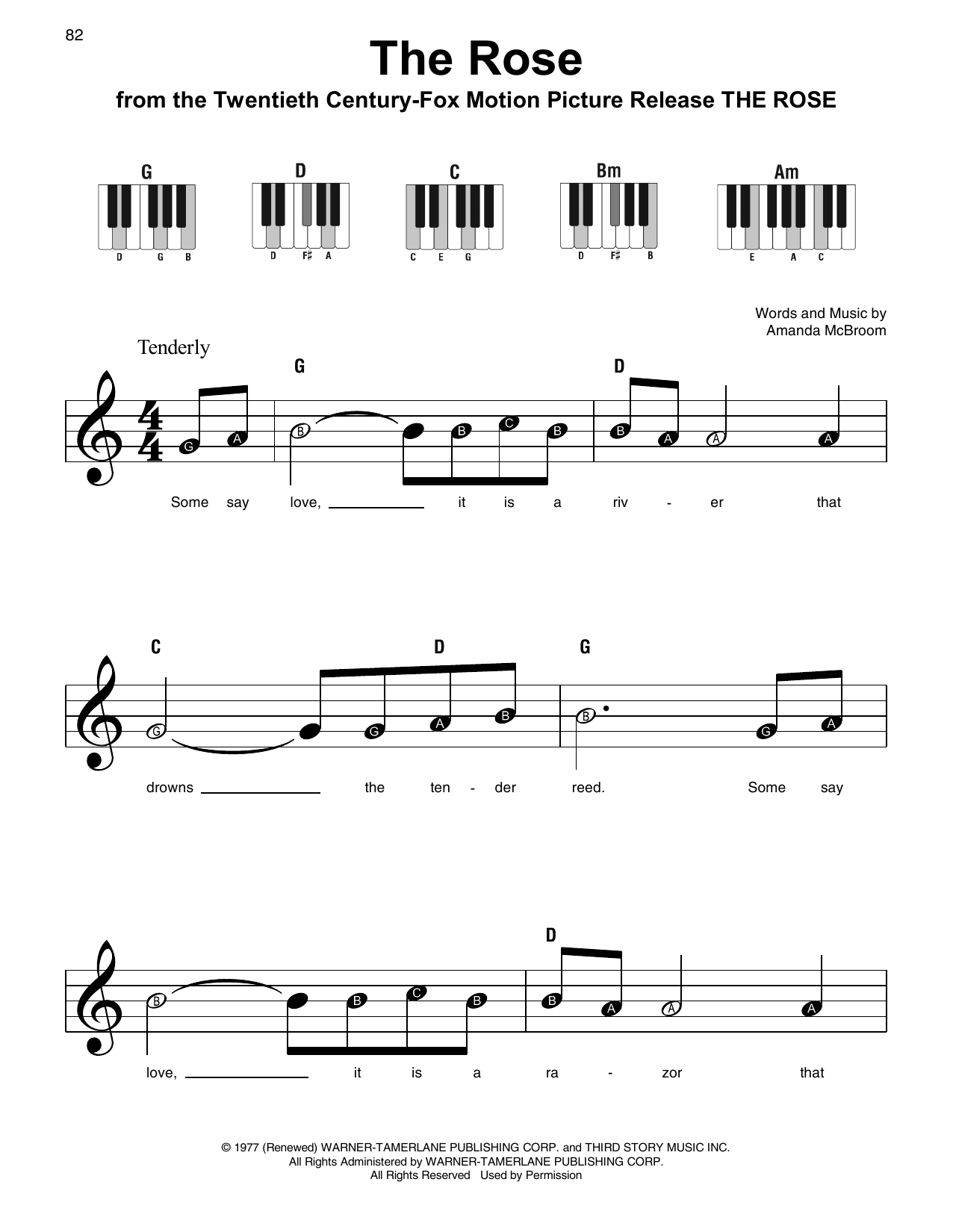 The Rose Sheet Music