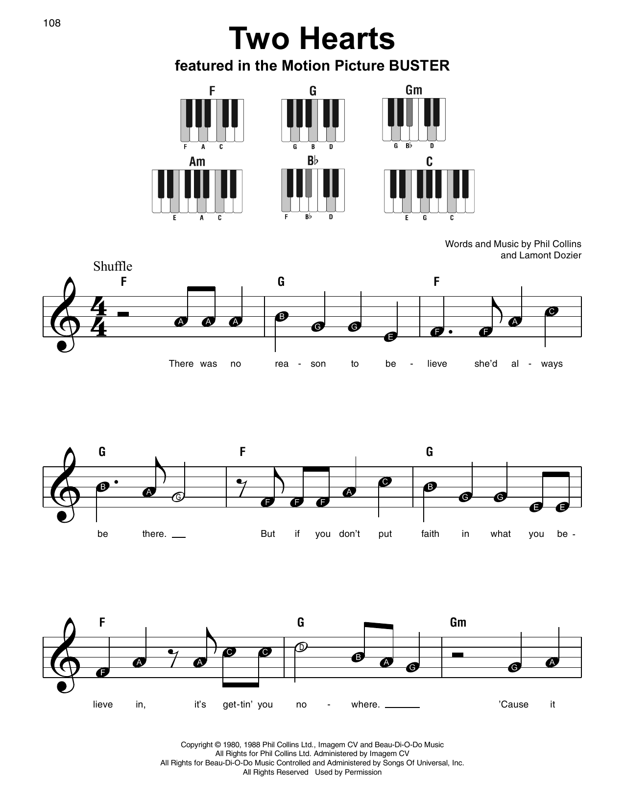 Two Hearts Sheet Music