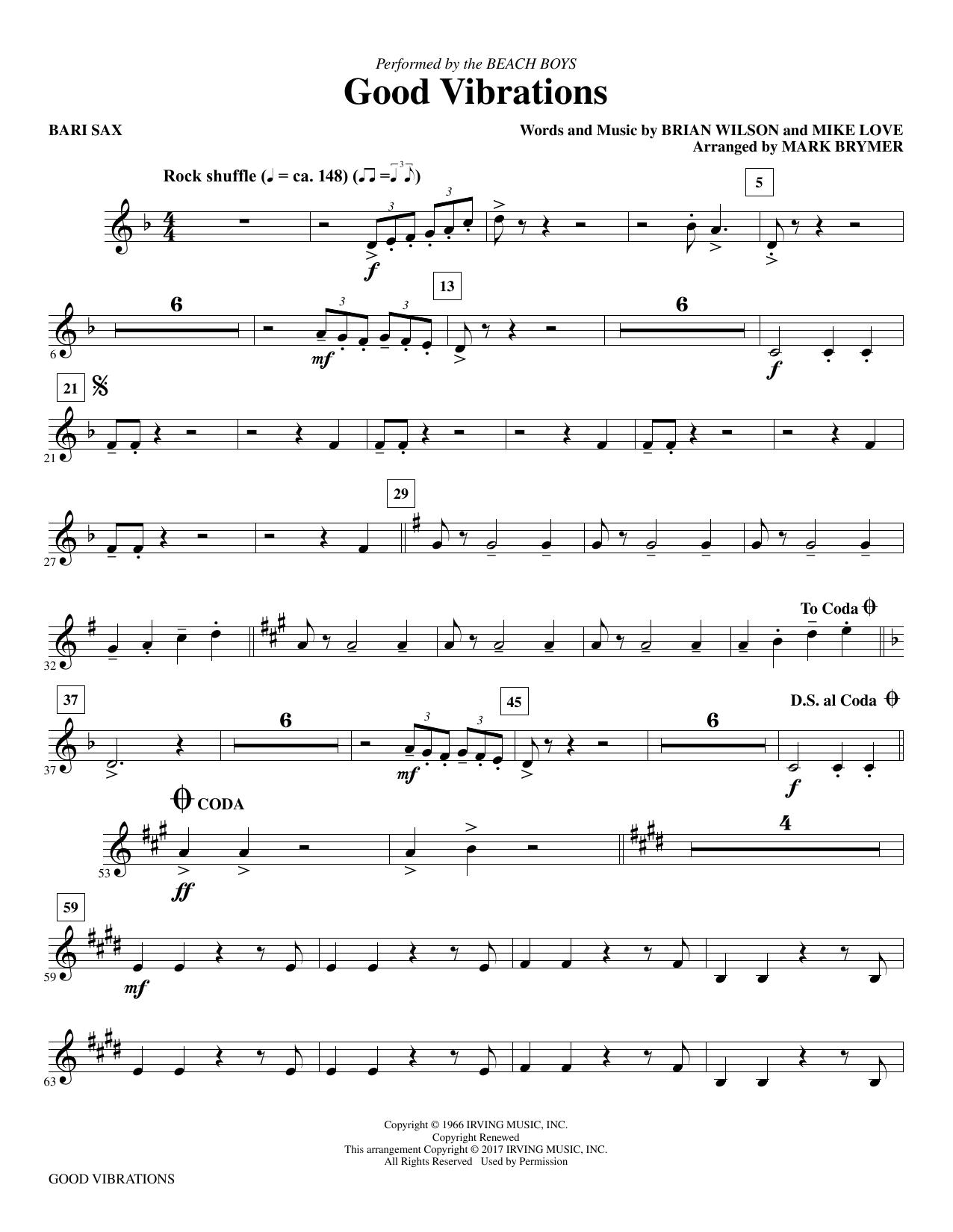 Good Vibrations - Baritone Sax (Choir Instrumental Pak)