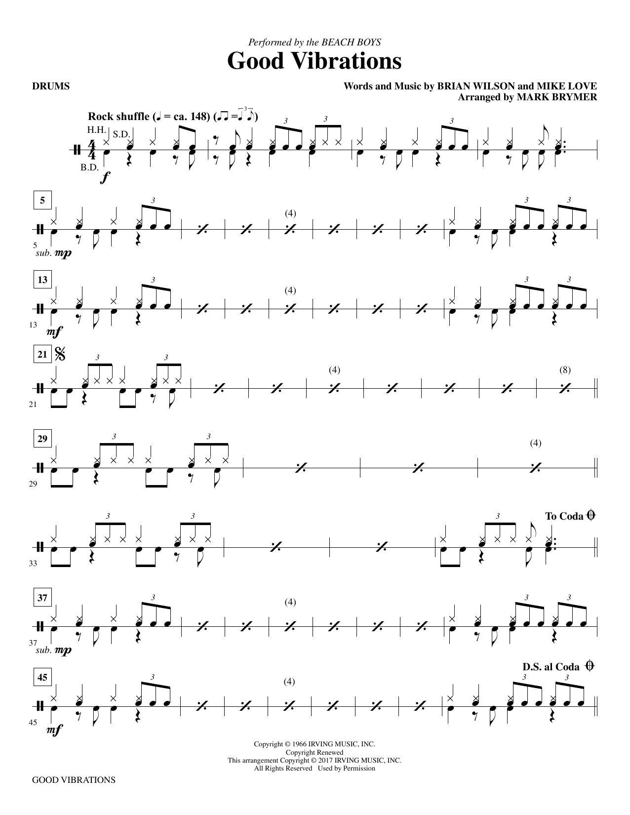 Good Vibrations - Drums (Choir Instrumental Pak)