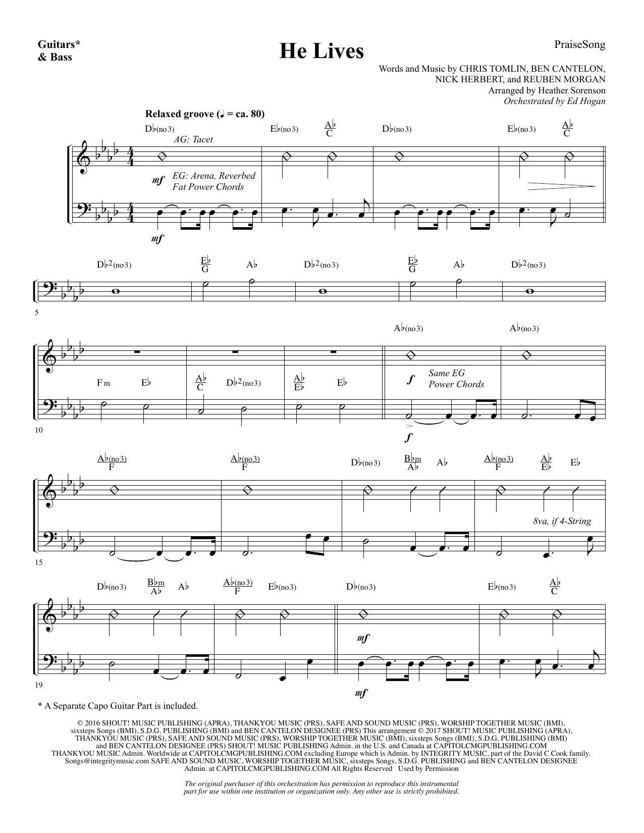 He Lives - Guitar/Electric Bass (Choir Instrumental Pak)