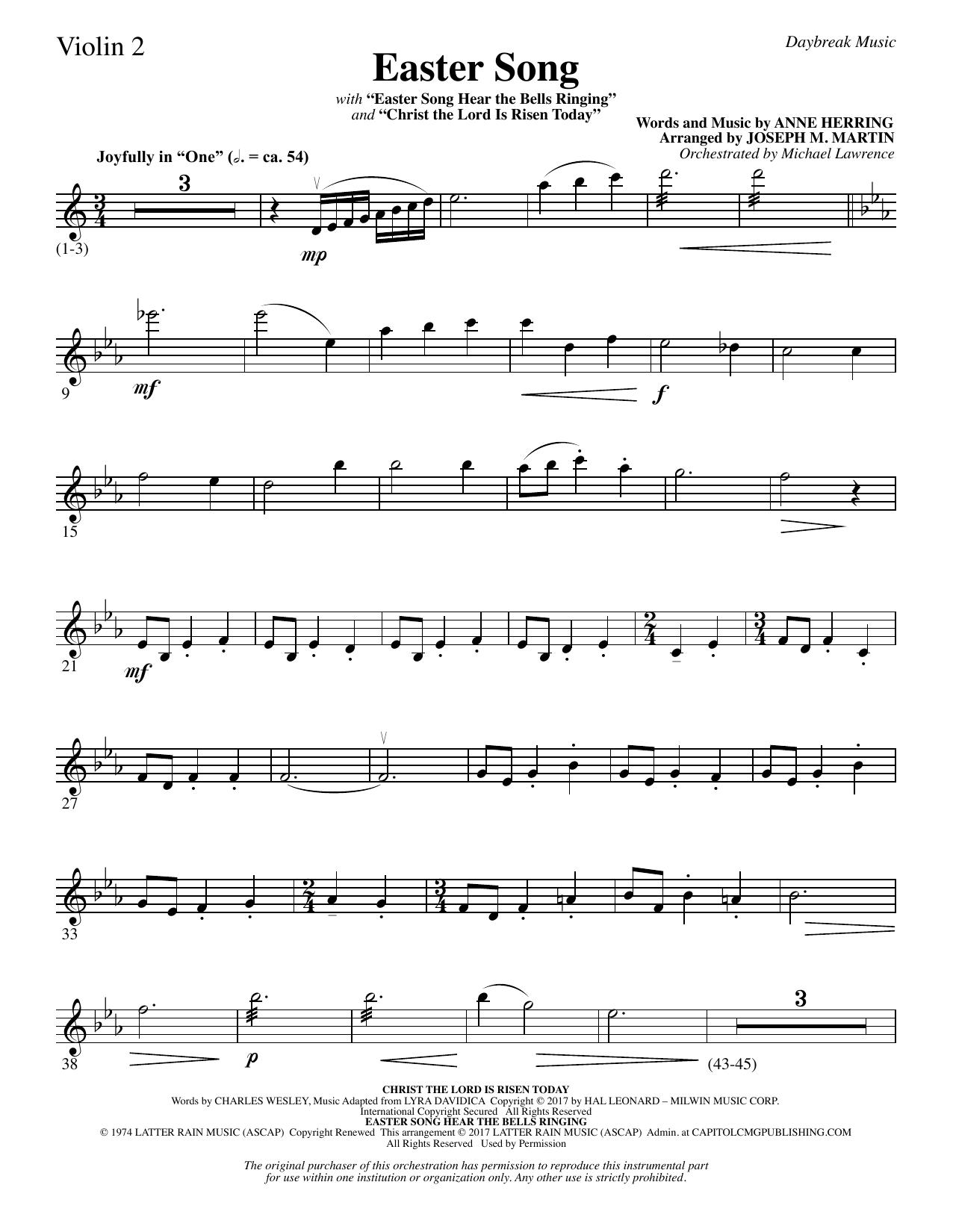 Easter Song - Violin 2 Sheet Music