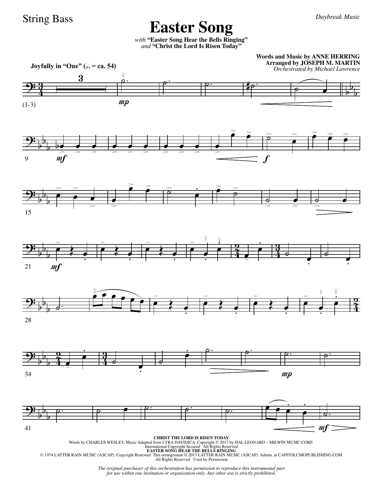 Easter Song - String Bass Sheet Music
