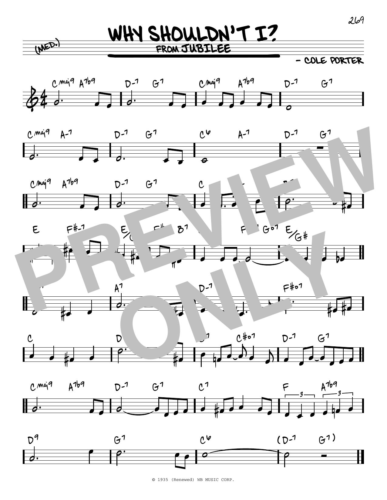 Why Shouldn't I? Sheet Music