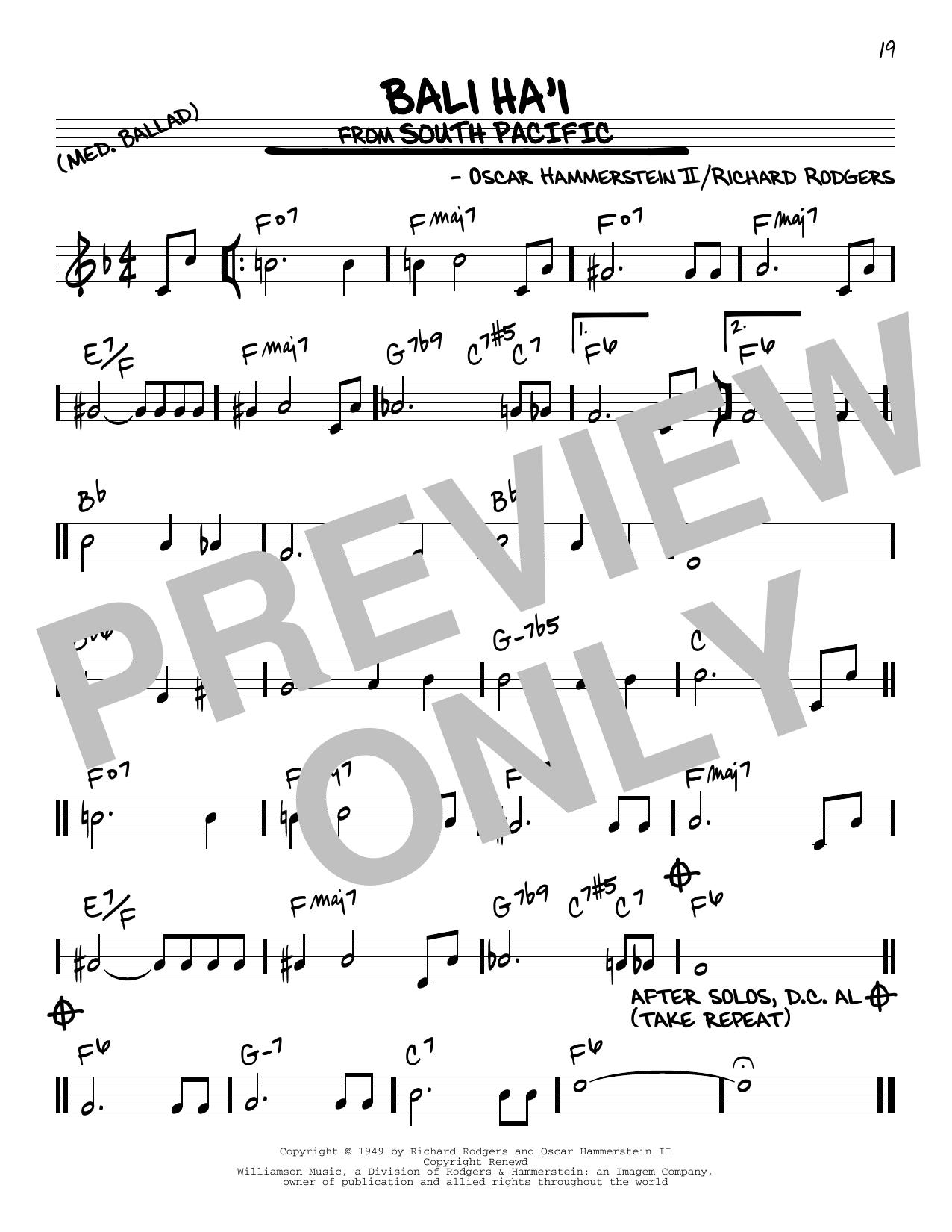 Bali Ha'i Sheet Music