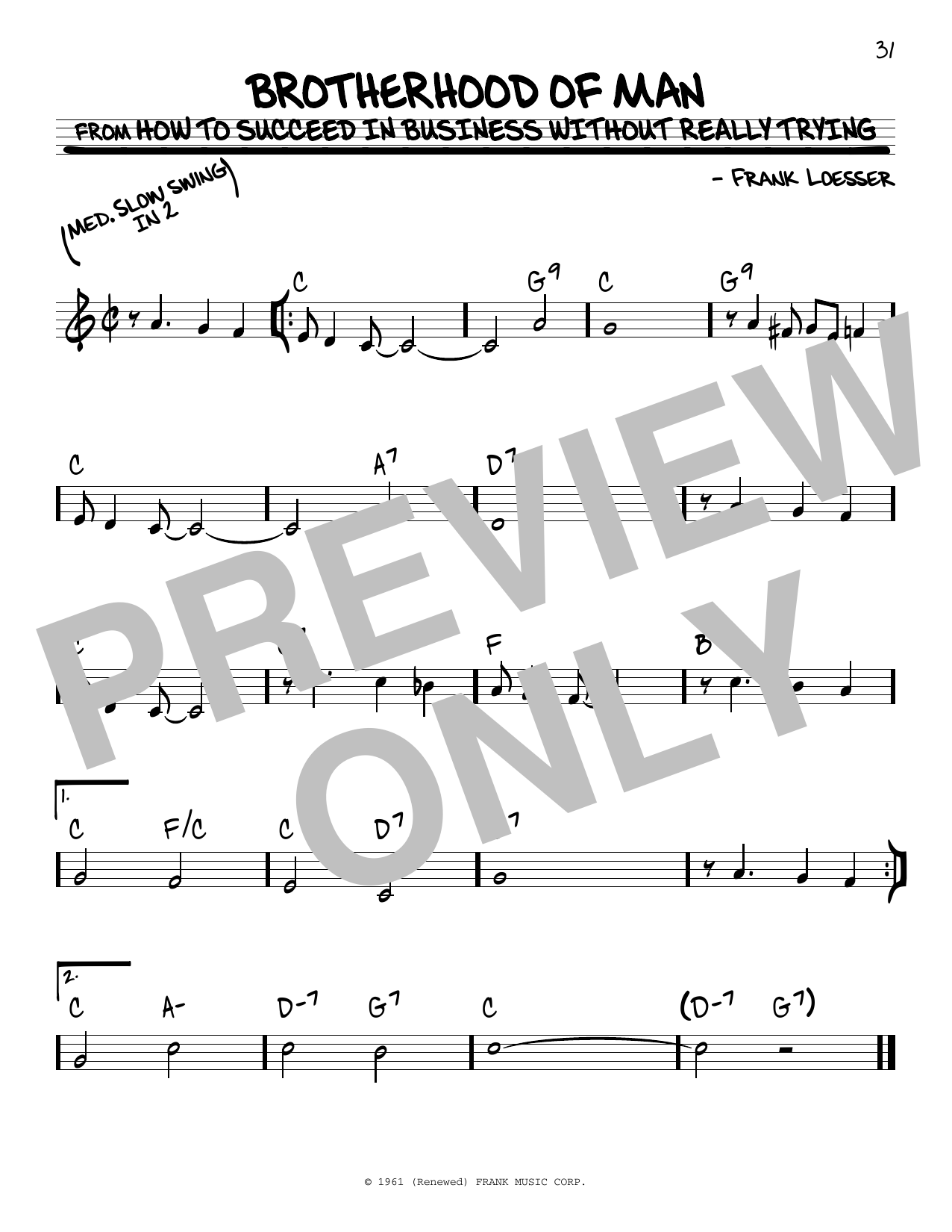 Brotherhood Of Man (Real Book – Melody & Chords)