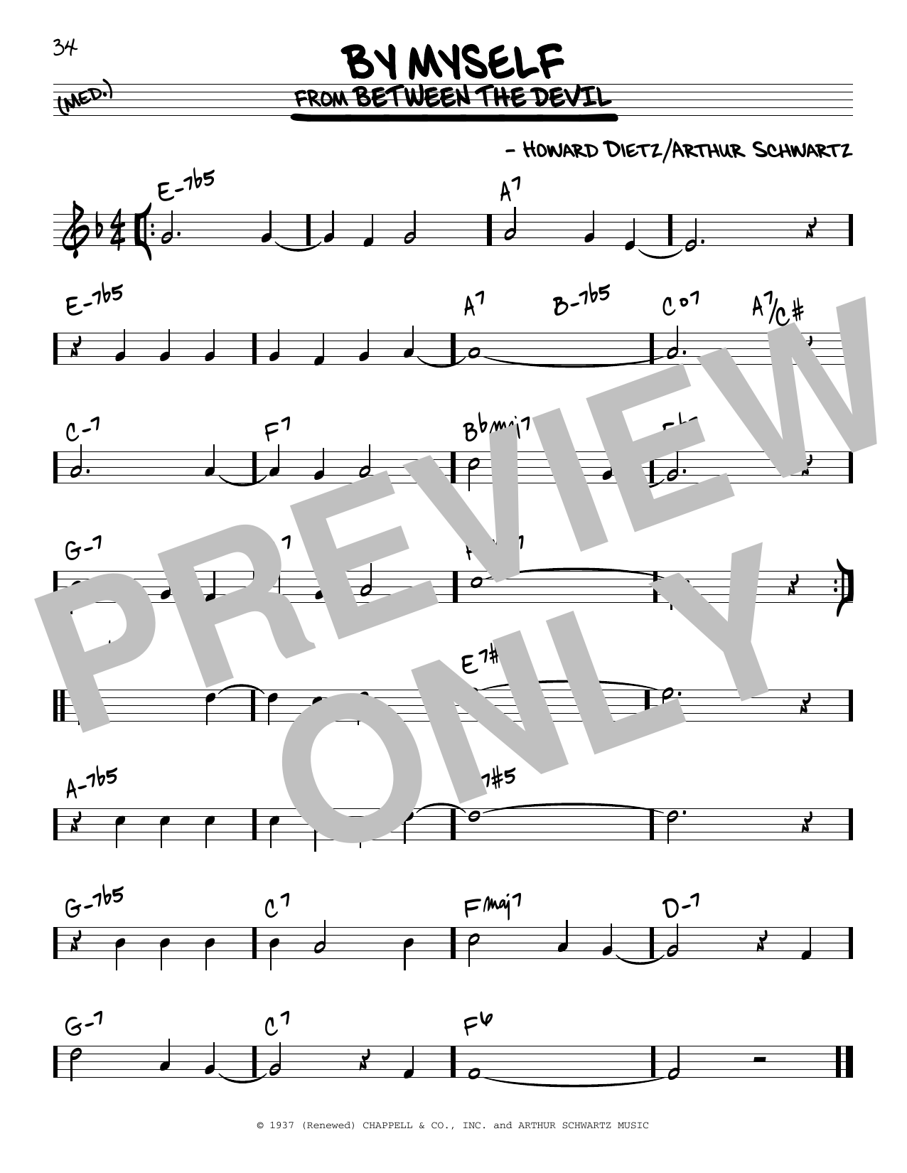 By Myself Sheet Music