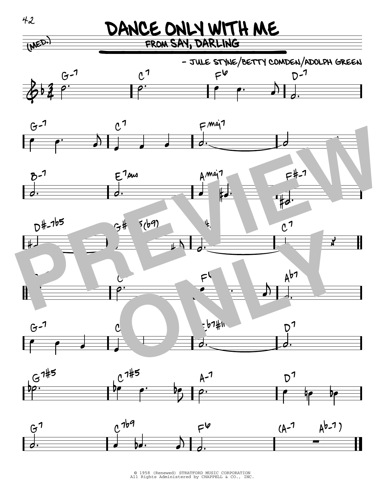 Dance Only With Me Sheet Music