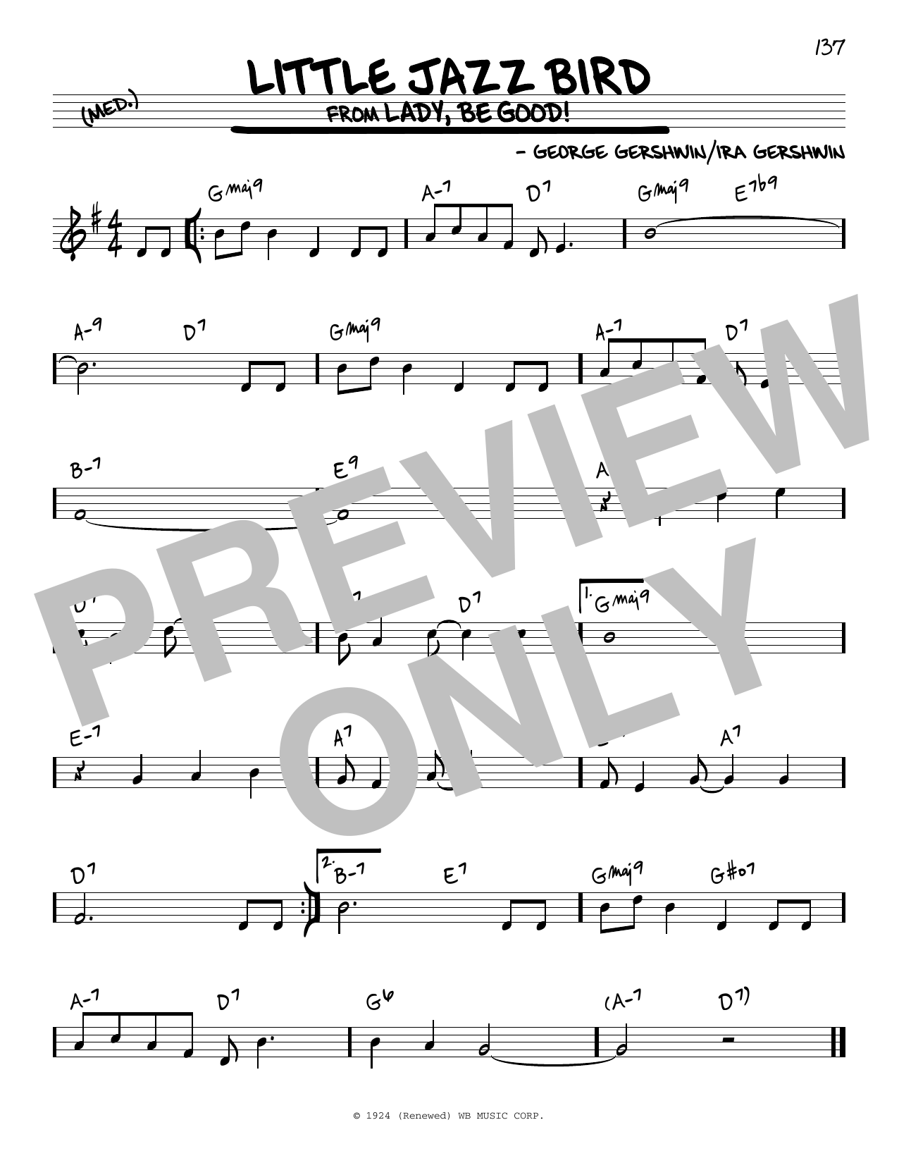 Little Jazz Bird Sheet Music