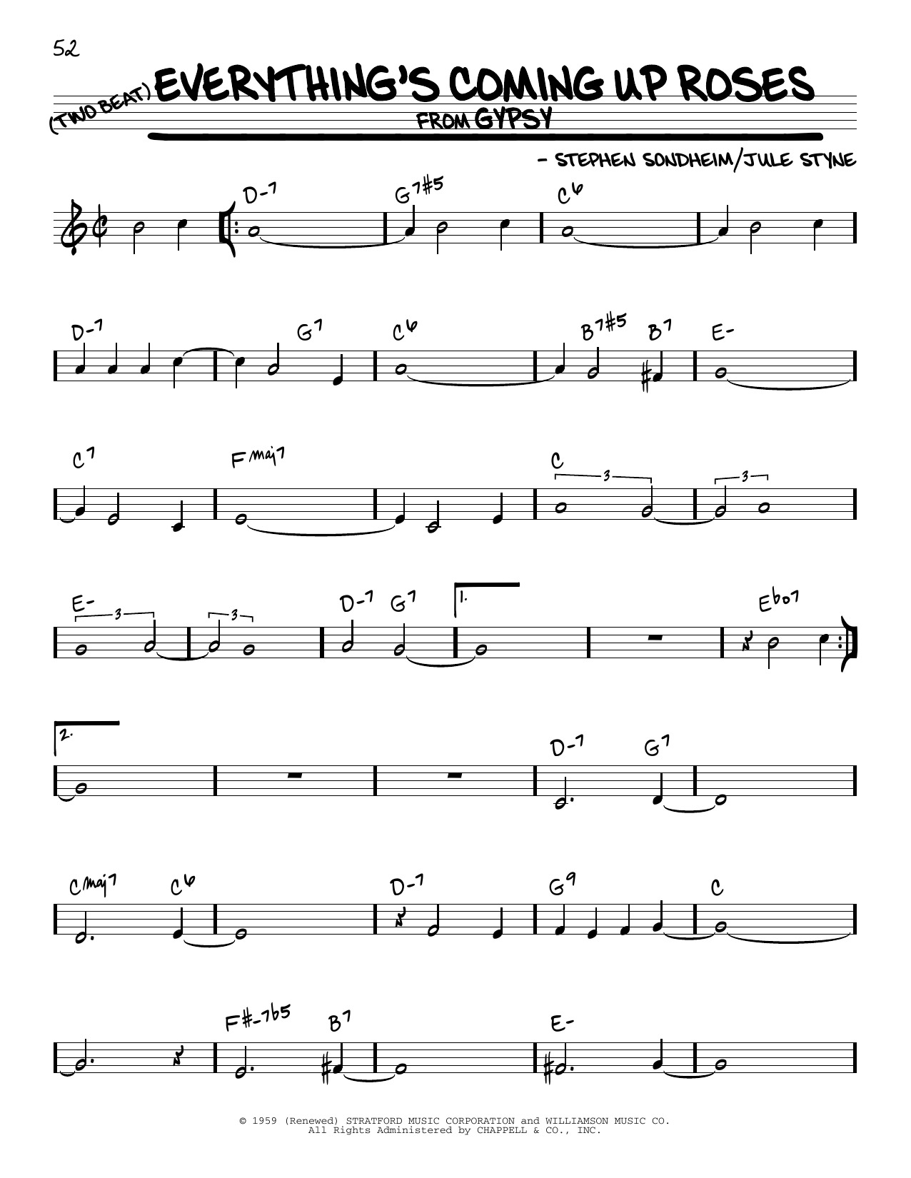 Everything's Coming Up Roses Sheet Music