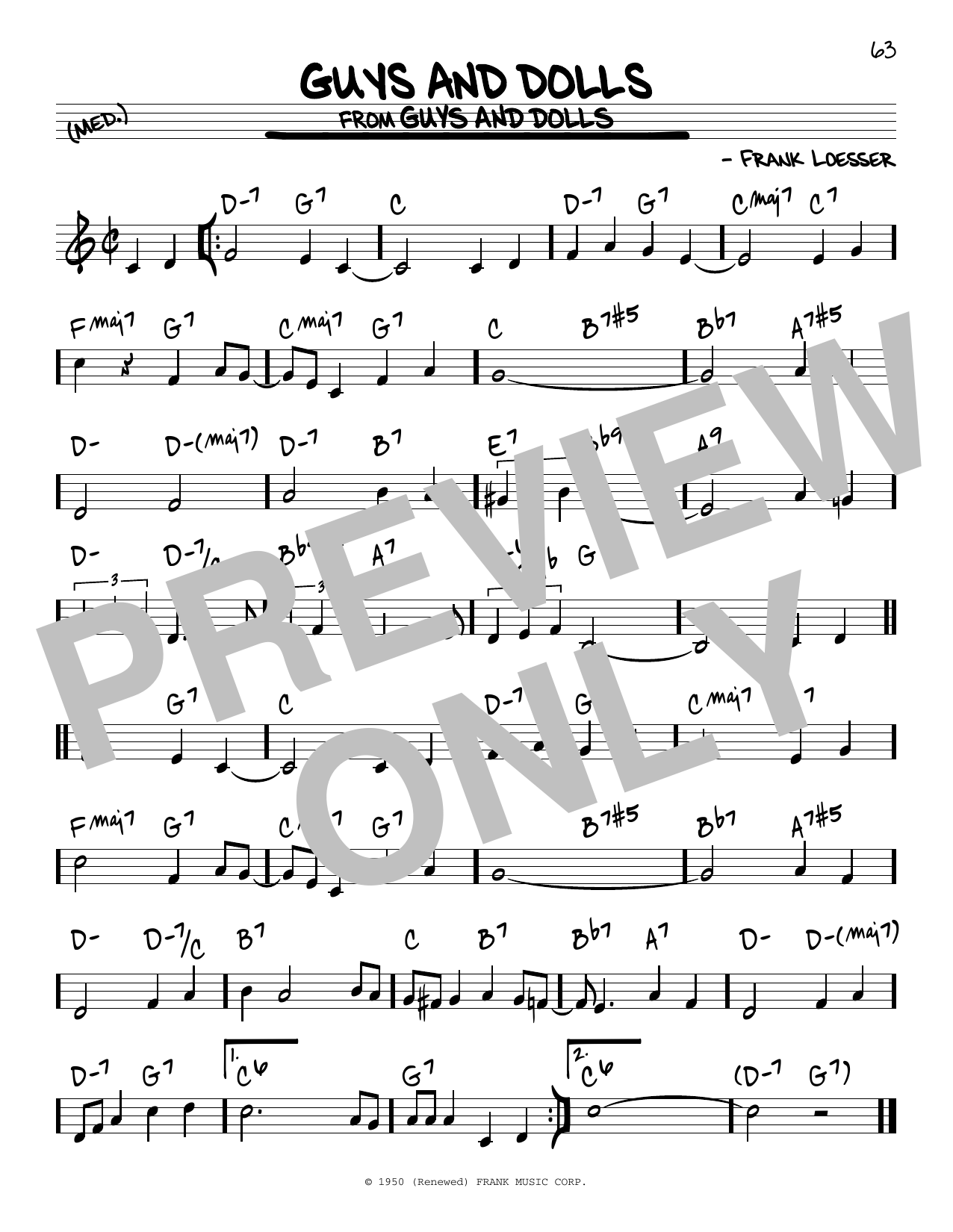 Guys And Dolls (Real Book – Melody & Chords)