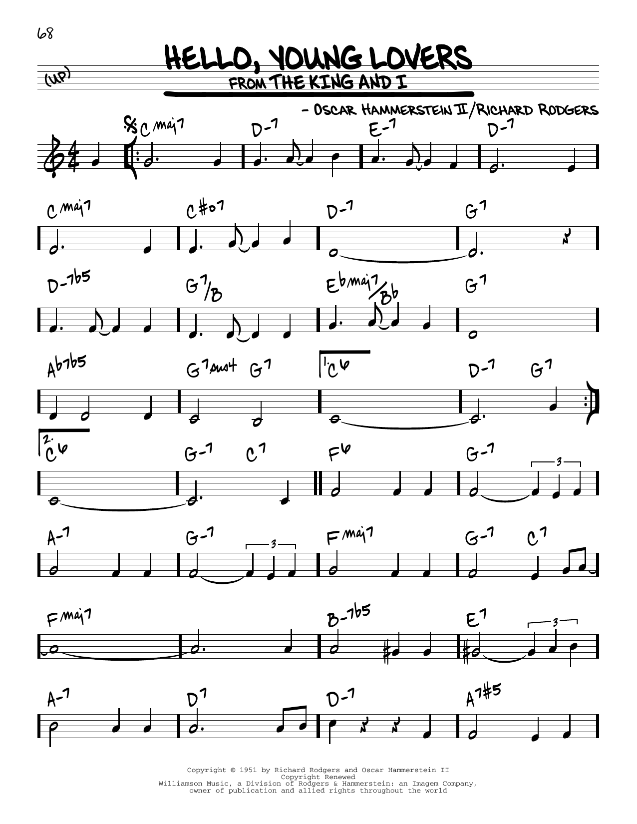 Hello, Young Lovers Sheet Music