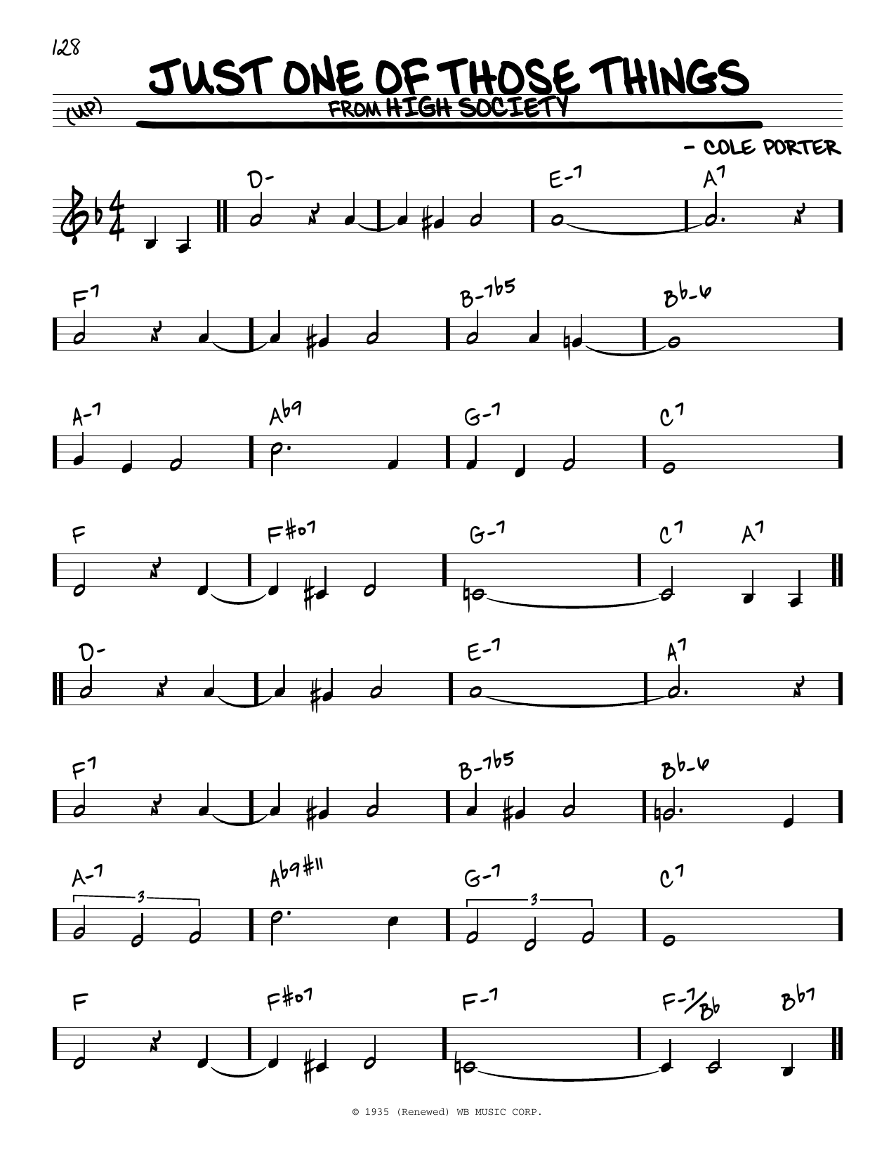 Just One Of Those Things Sheet Music
