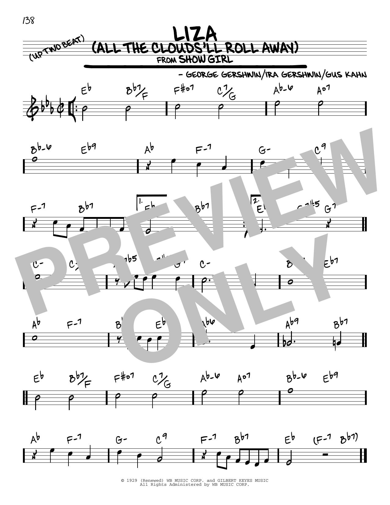 Liza (All The Clouds'll Roll Away) Sheet Music