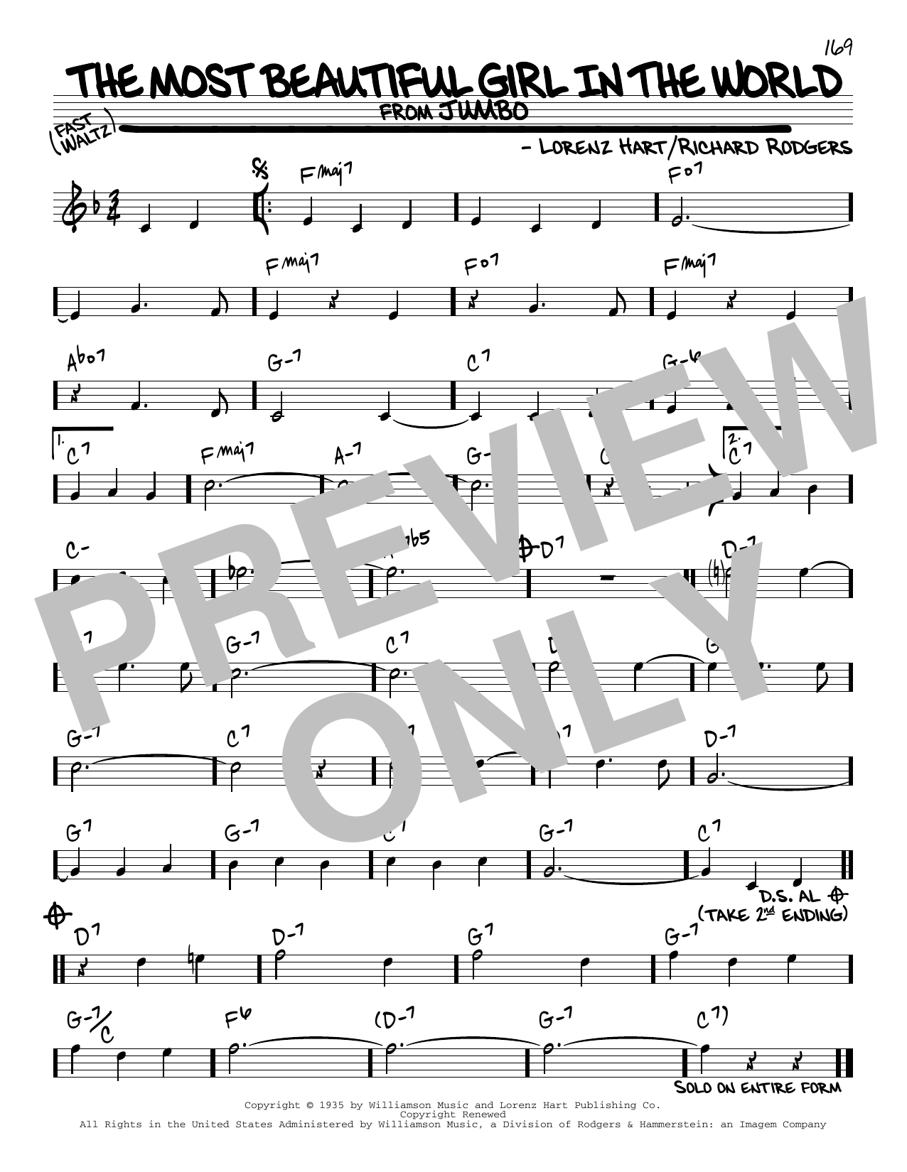 The Most Beautiful Girl In The World Sheet Music