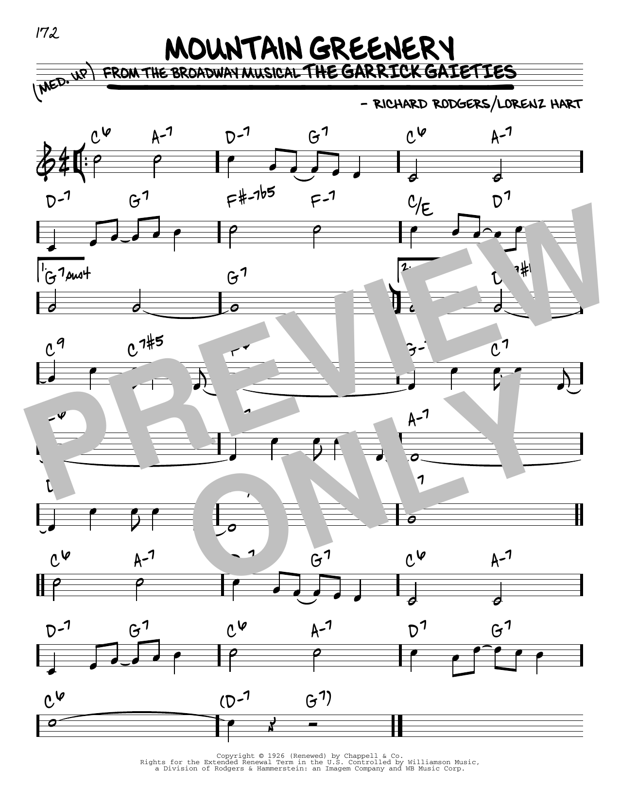 Mountain Greenery Sheet Music