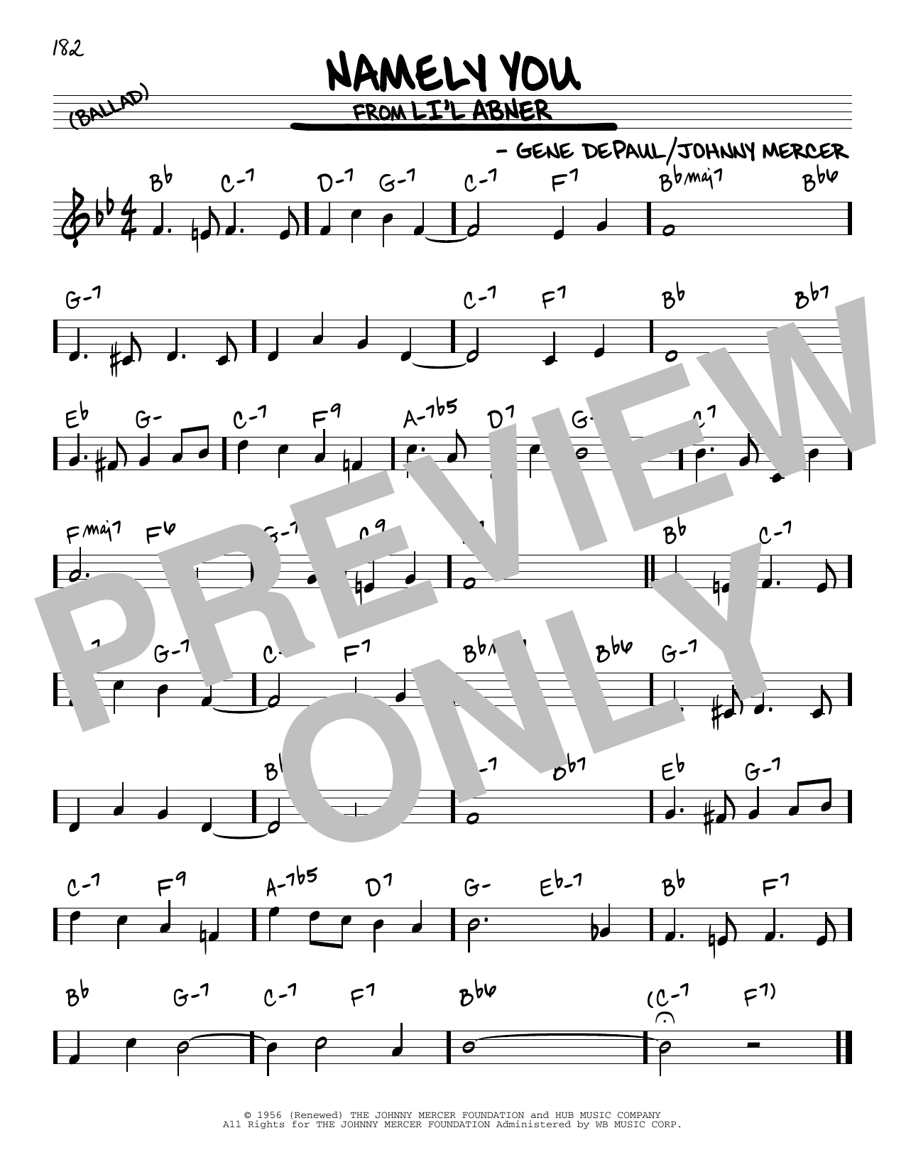 Namely You Sheet Music
